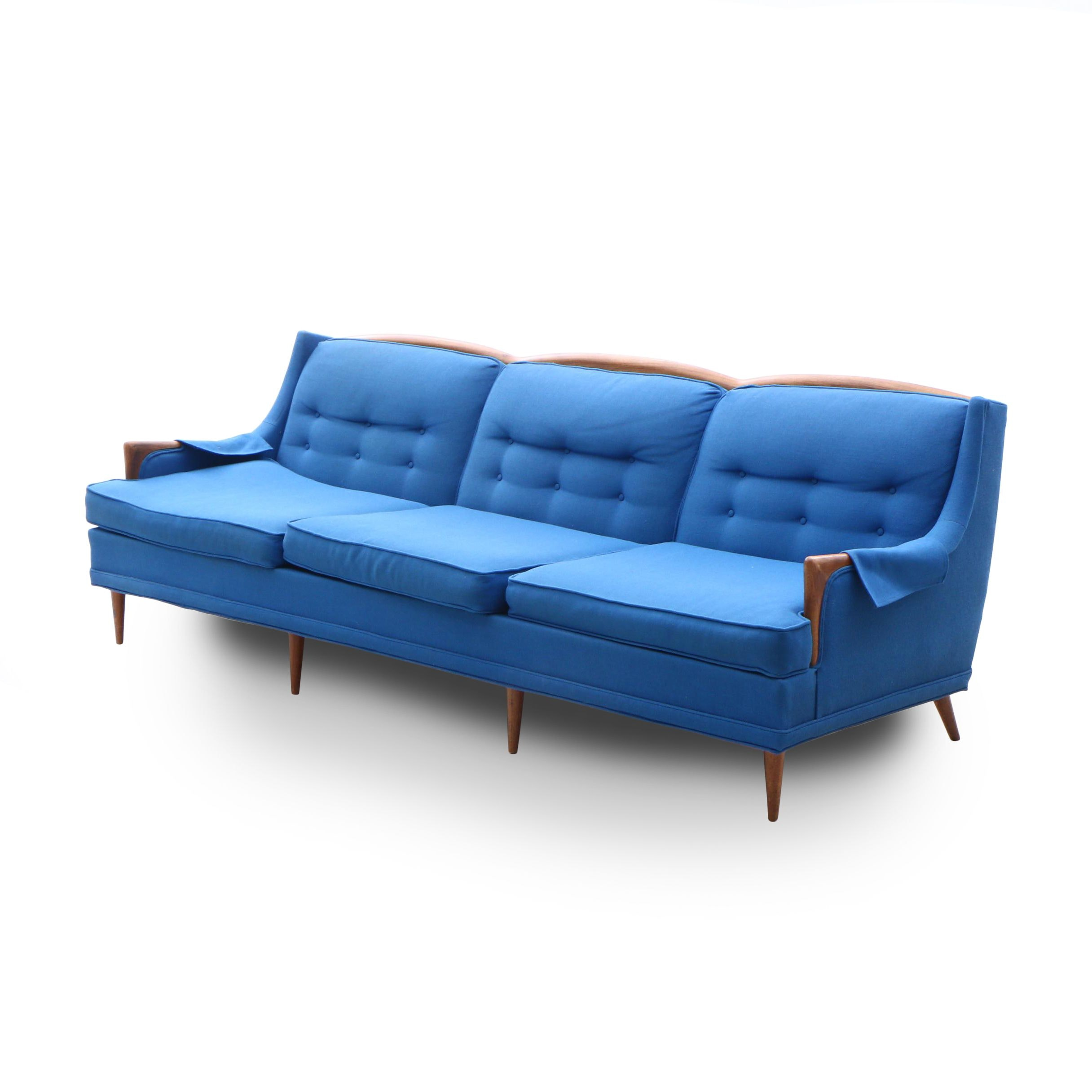 Avant Design for Marvin Wollins Furniture Button Tufted Sofa, Mid 20th Century