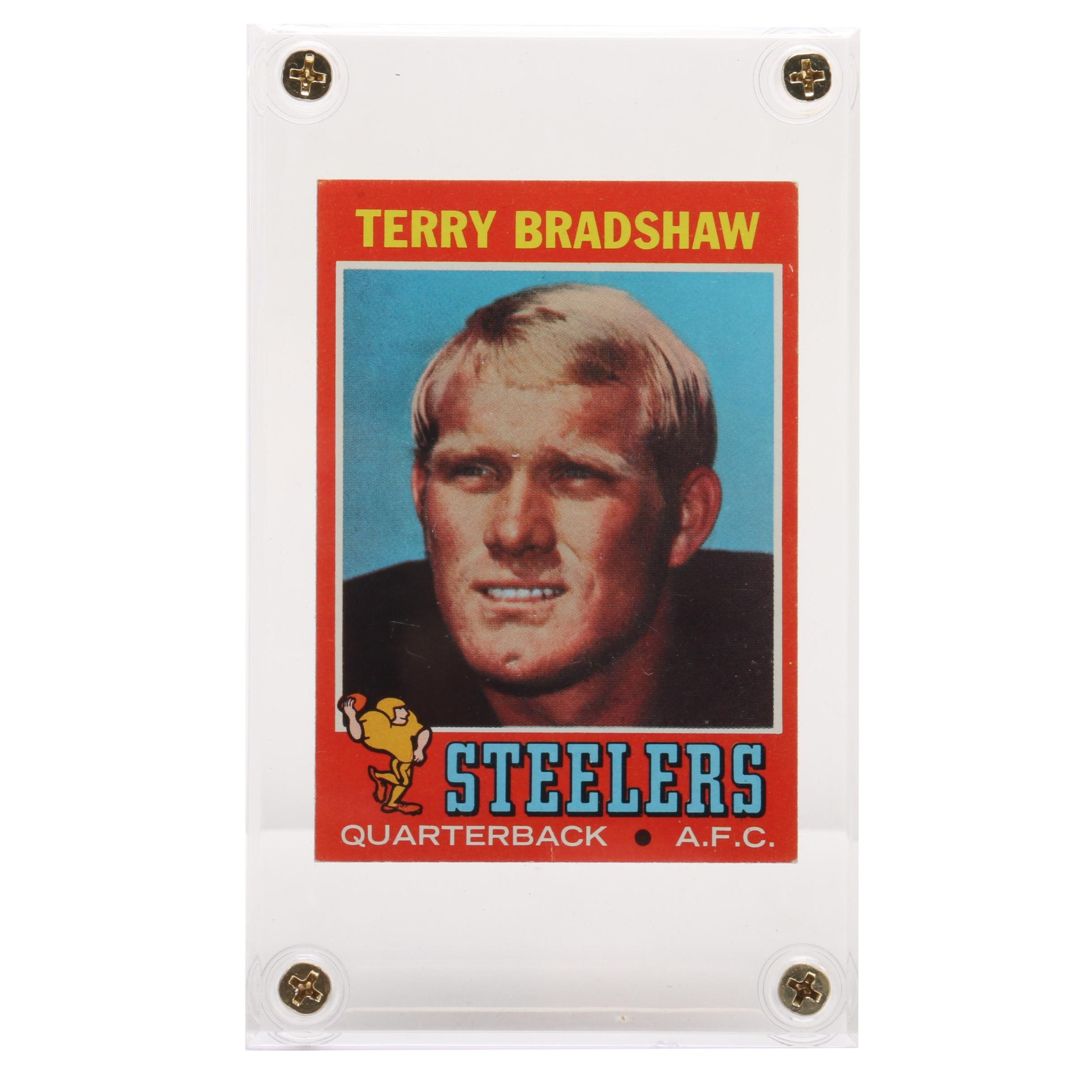 1971 Terry Bradshaw Pittsburgh Steelers Topps Rookie Football Card
