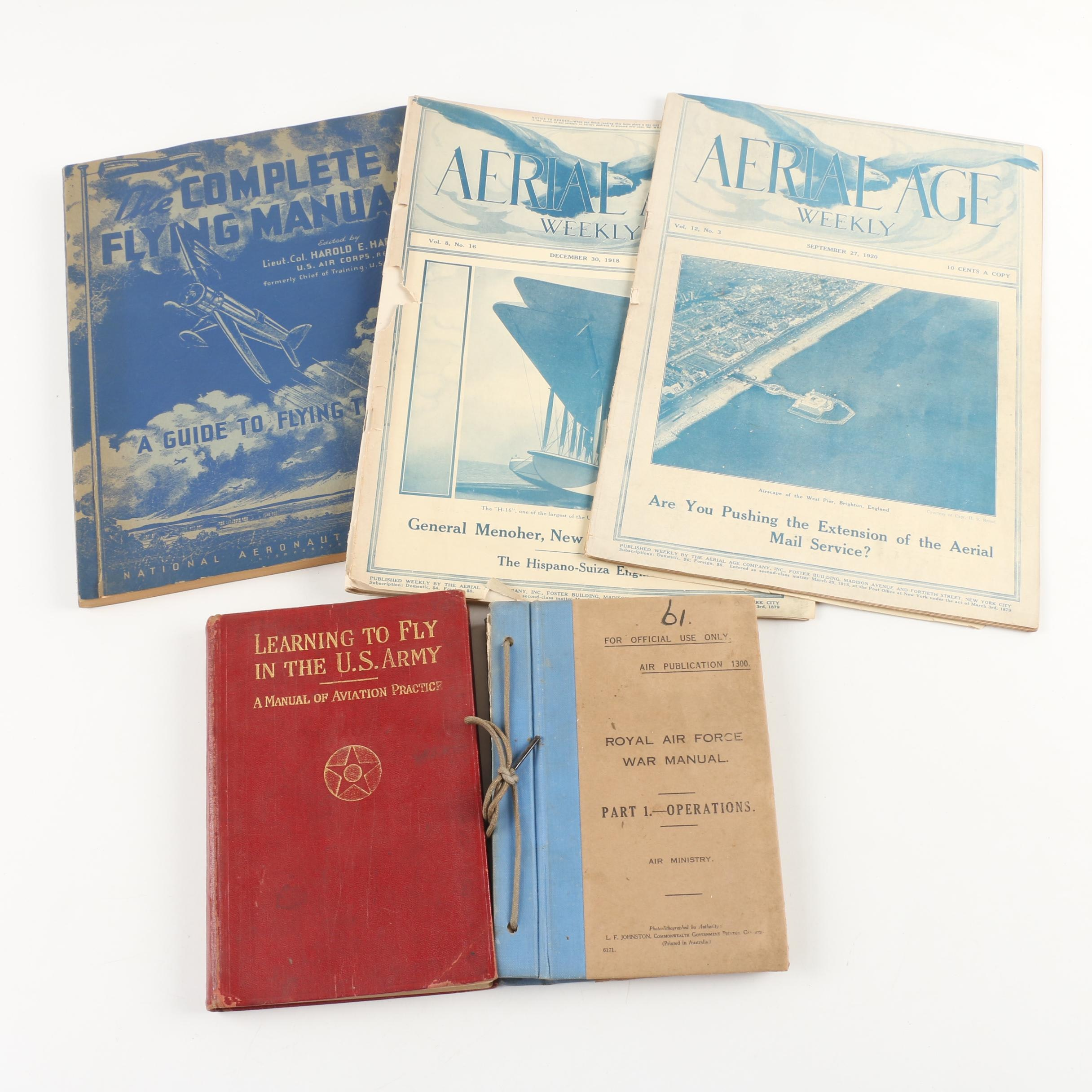 Military and Recreation Aviation Manuals and Magazines