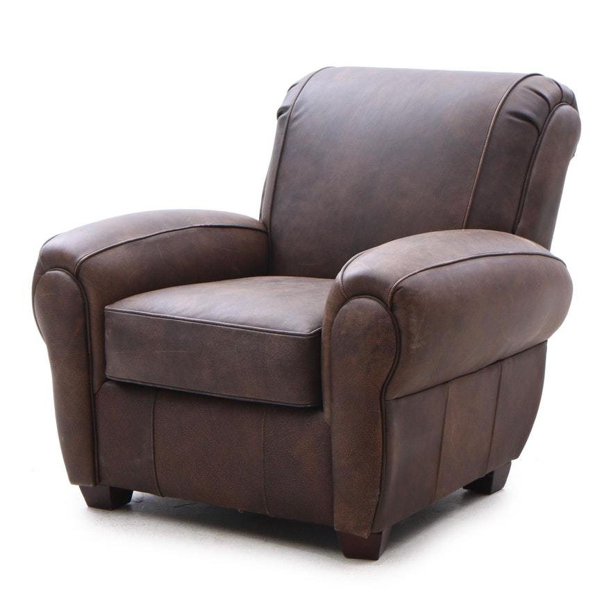Sofa Express Leather Armchair, Contemporary