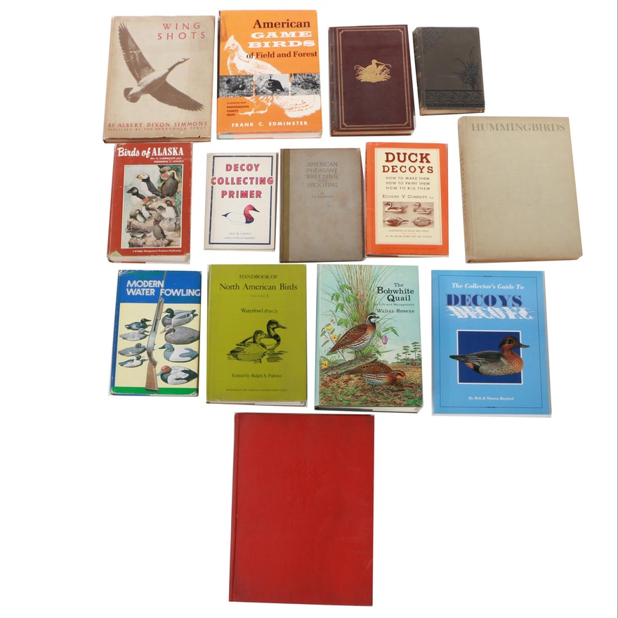 "Assorted Books on Birds featuring 1960 ""Hummingbirds"" by Crawford H. Greenewalt"