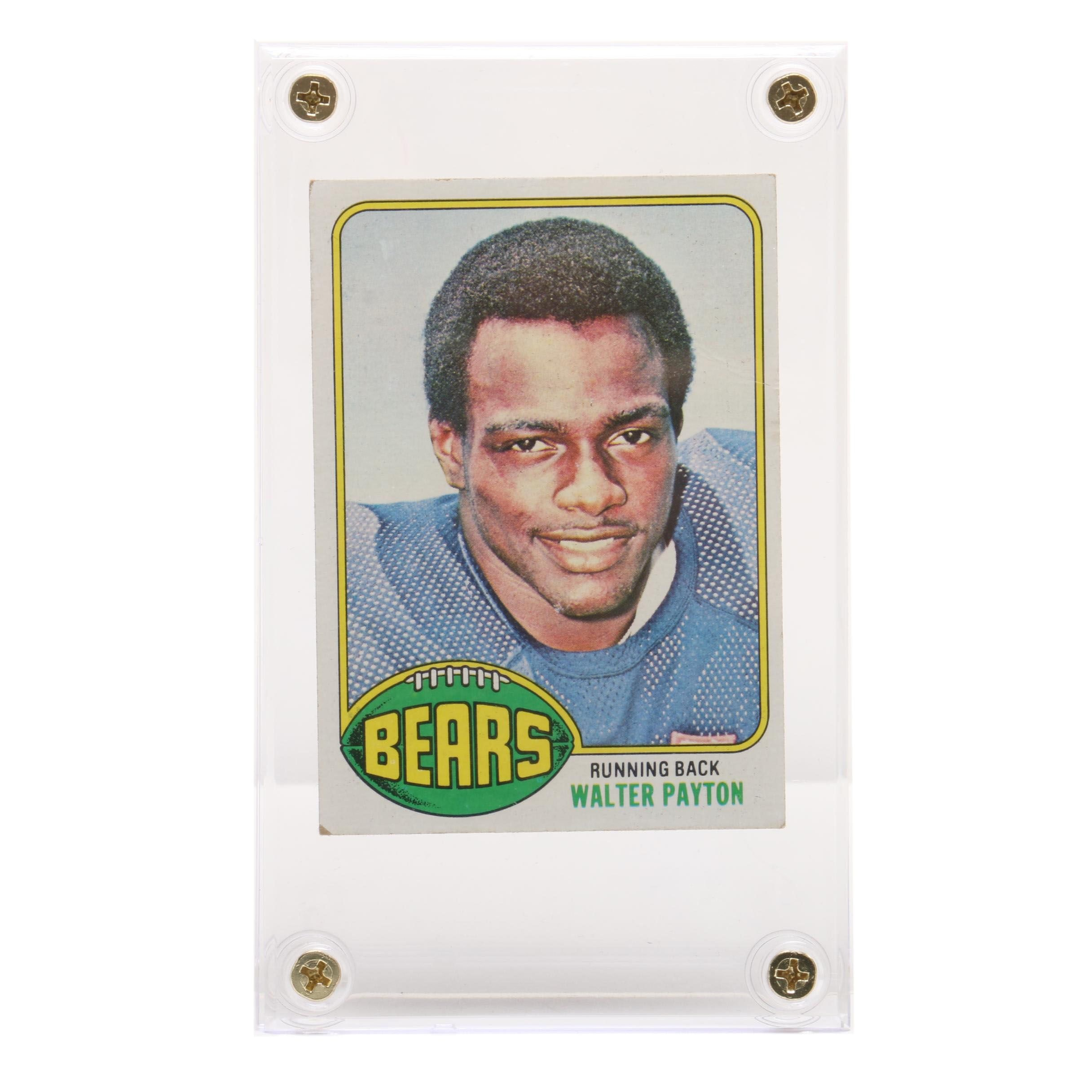 1976 Walter Payton Chicago Bears Topps Rookie Football Card