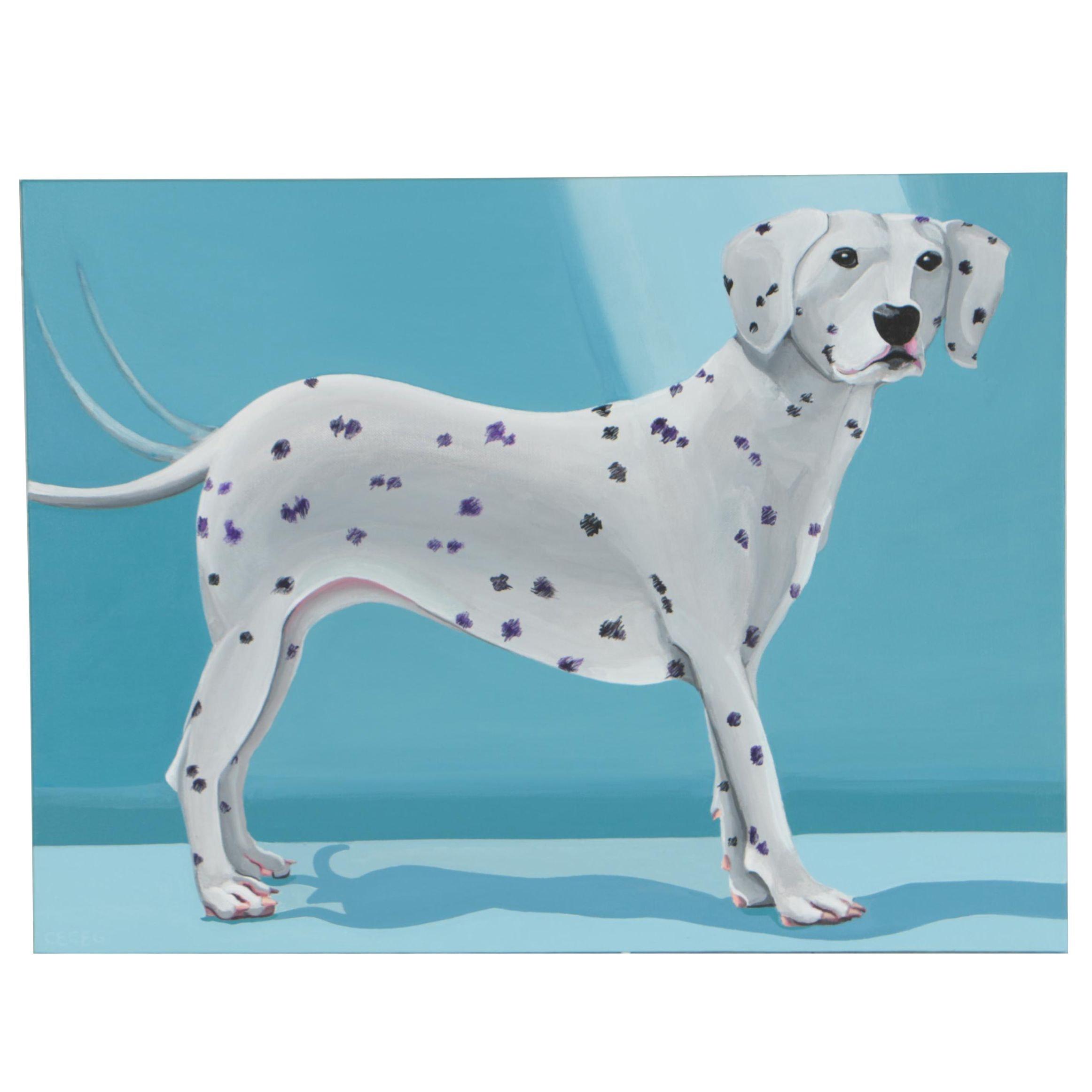CeCeGStudio Acrylic Painting Dalmatian Portrait