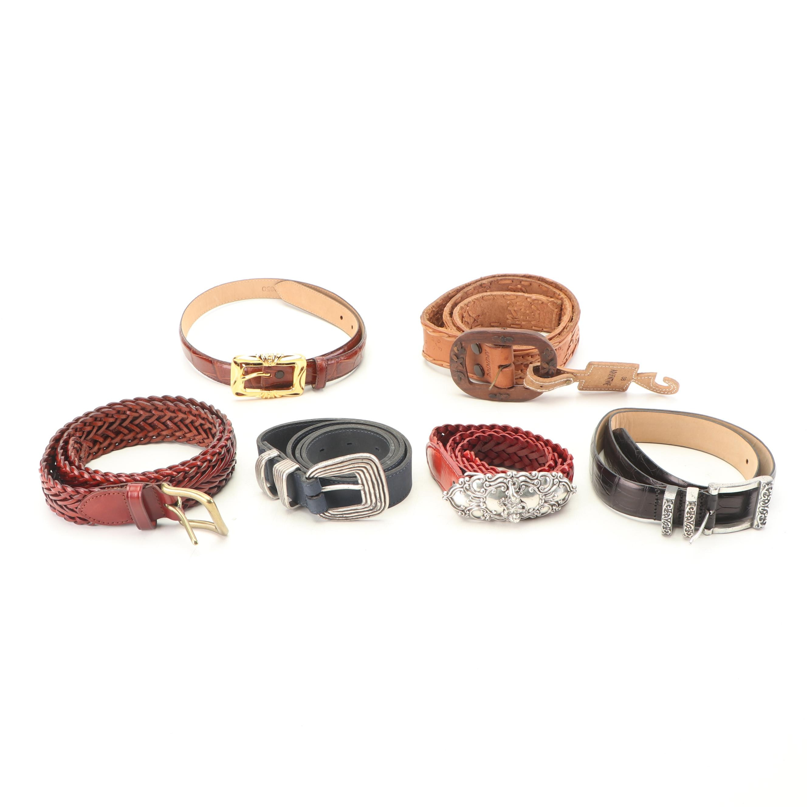 Women's Leather Belts Including Enmom, 1990s