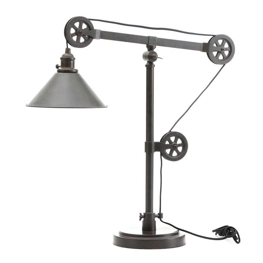 Pottery Barn Industrial Style Table Lamp, Contemporary