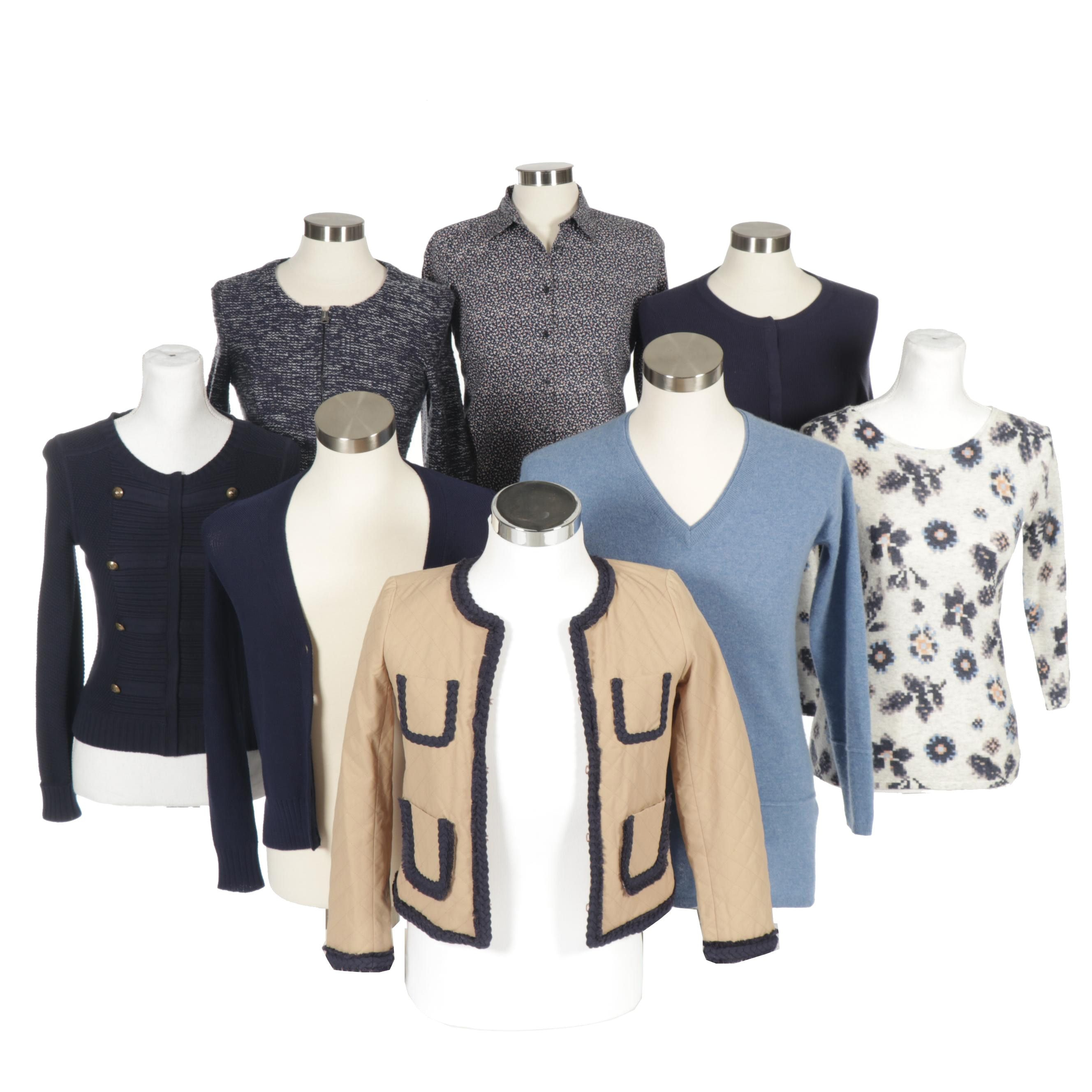 Women's Contemporary Tops, Sweaters and Jacket with J. Crew, Ann Taylor and More