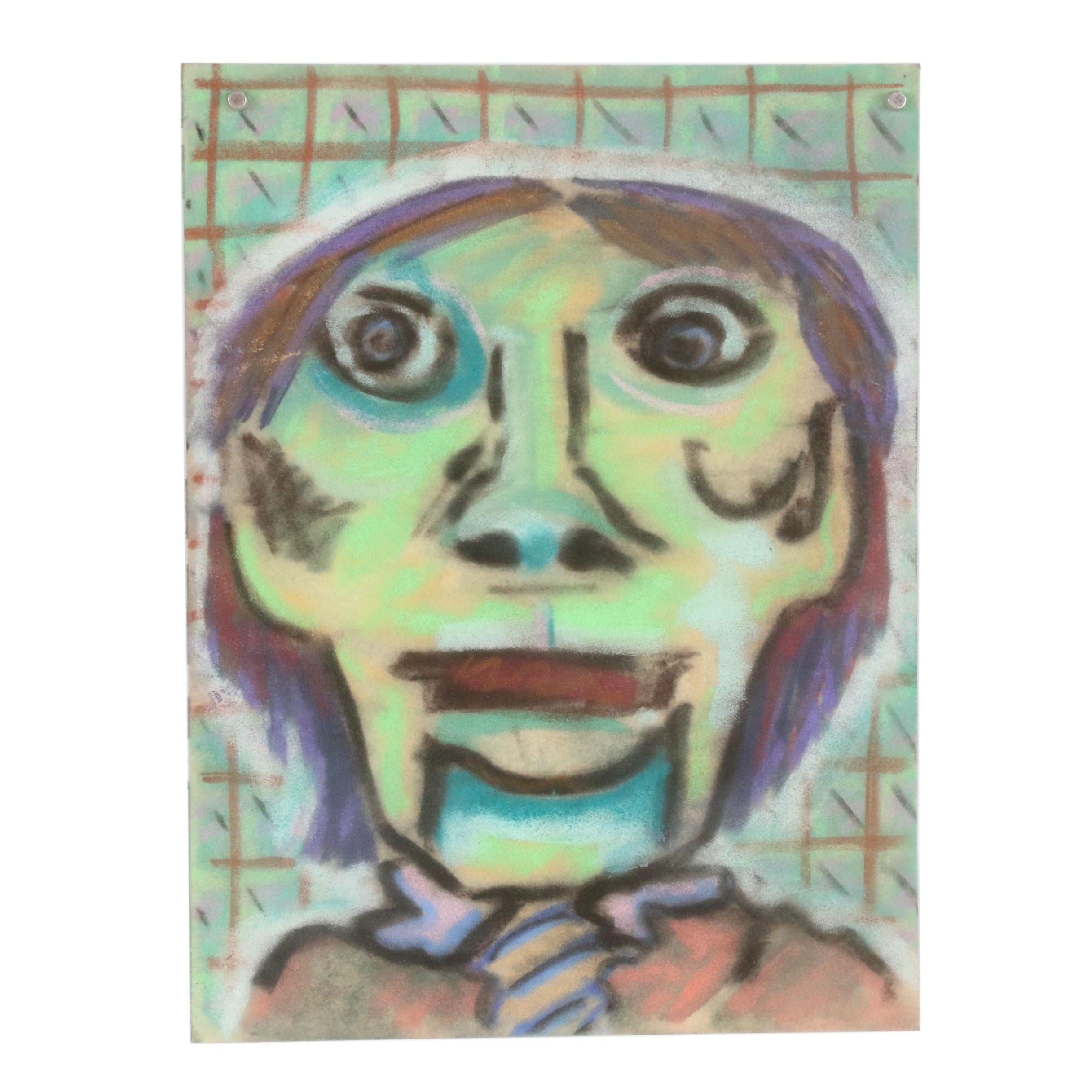 Merle Rosen 2000 Abstract Pastel Portrait