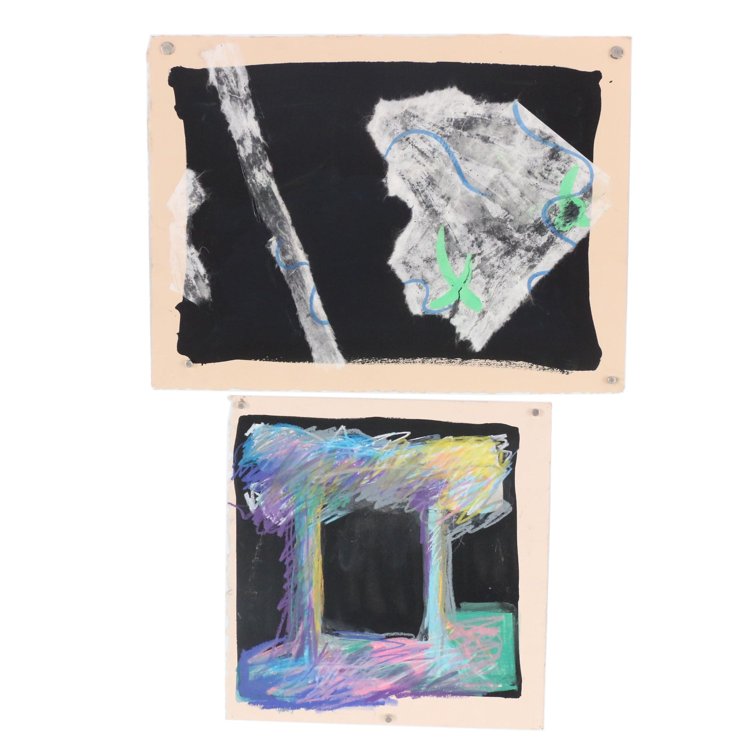 Merle Rosen 1984 Abstract Mixed Media Compositions