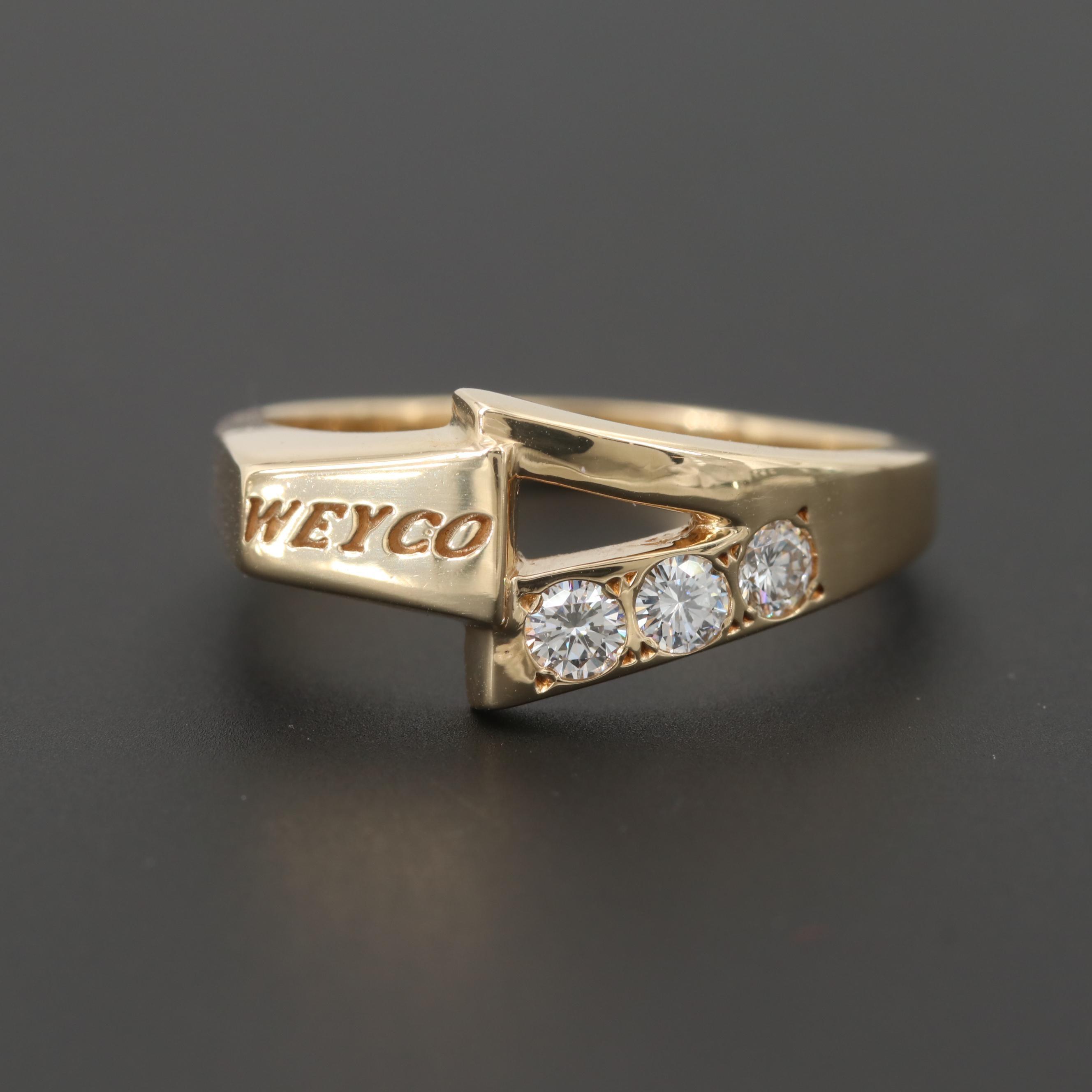 "14K Yellow Gold Diamond ""Weyco"" Ring"