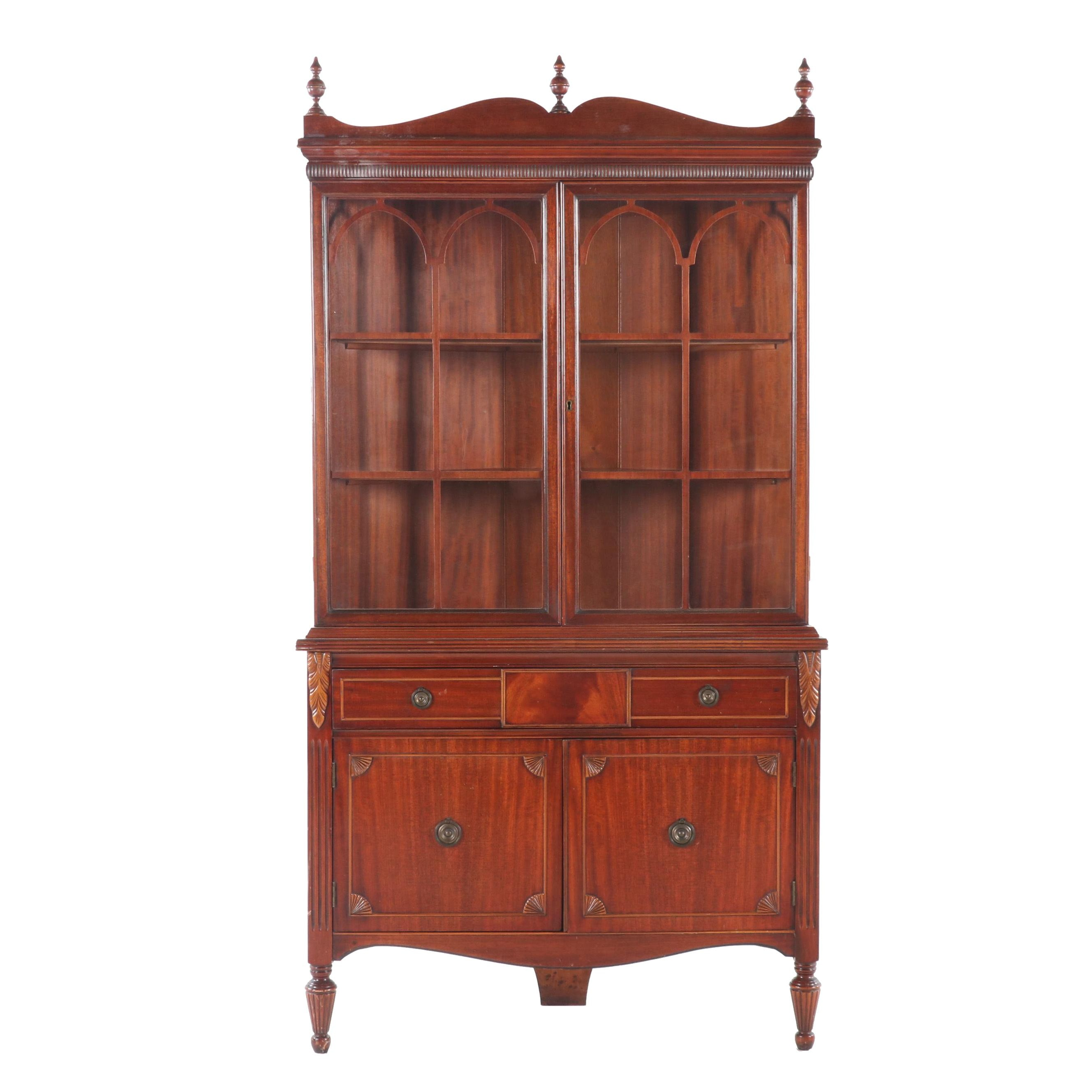 Huntley Simmons Furniture Federal Style Mahogany Corner Cabinet