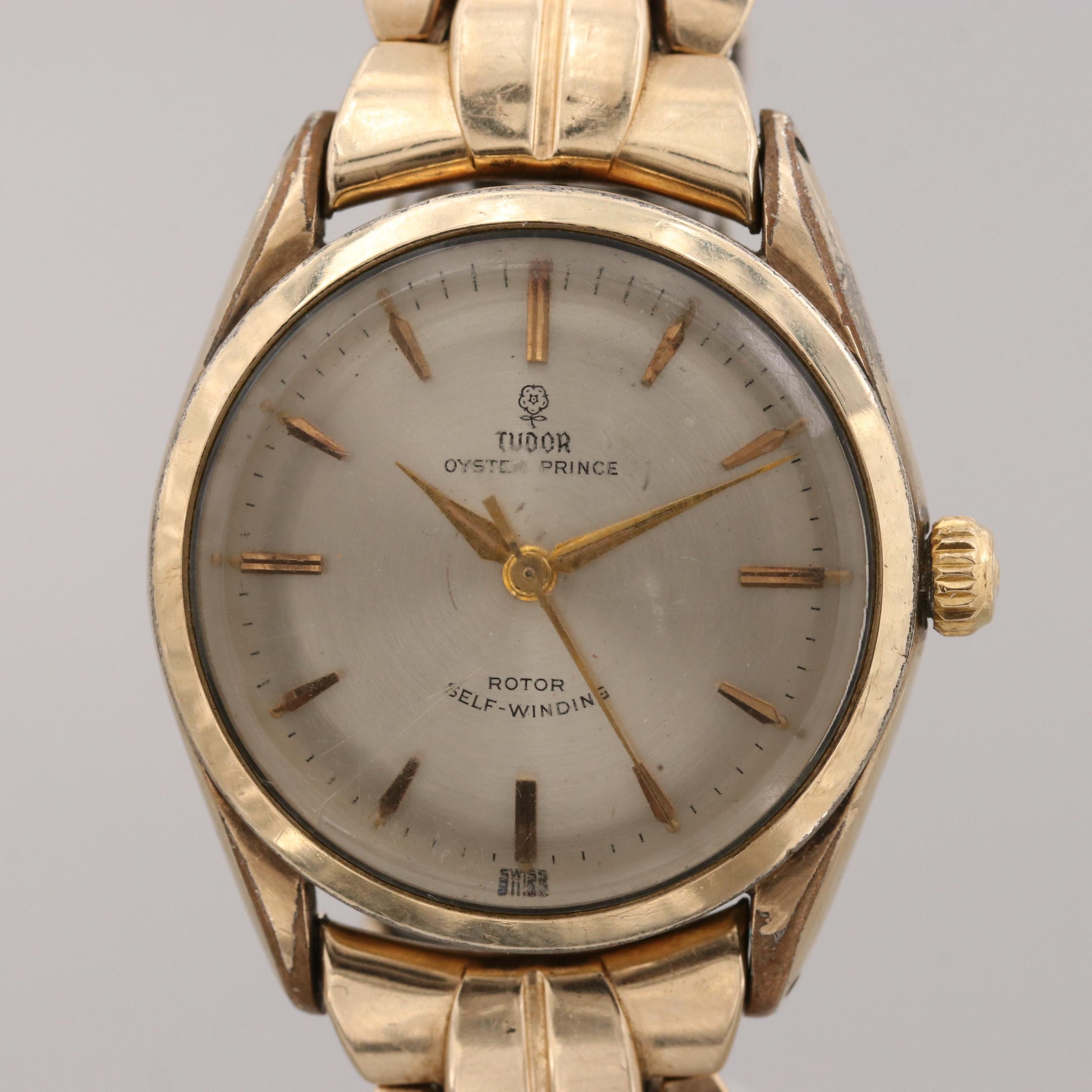 Vintage Tudor Oyster Prince Gold Tone Automatic Wristwatch