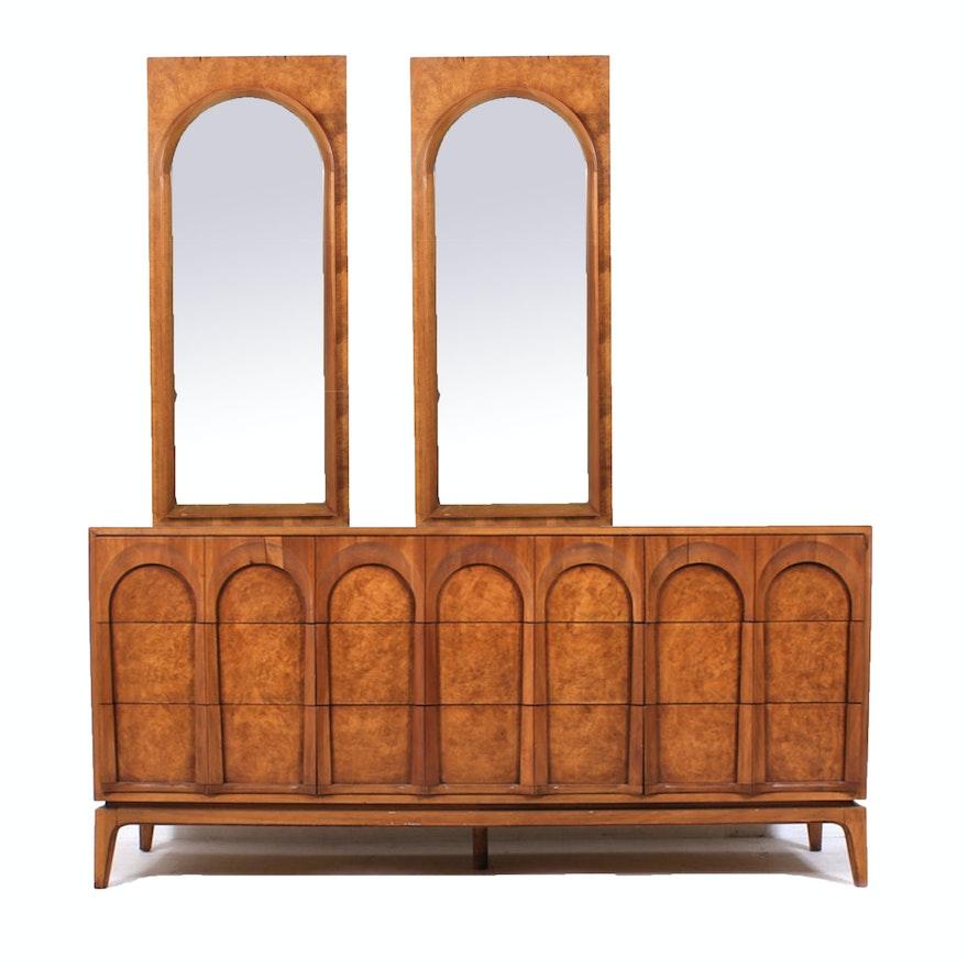 Mid Century Modern Dresser with Mirrors, Vintage