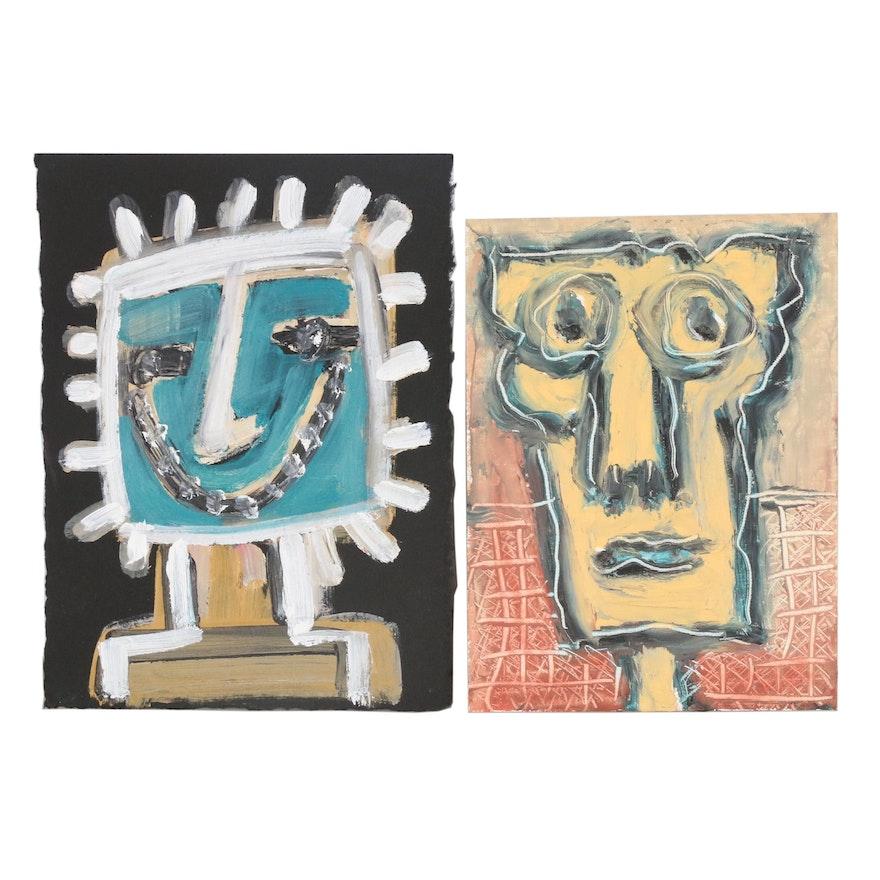 Merle Rosen Abstract Acrylic Portraits