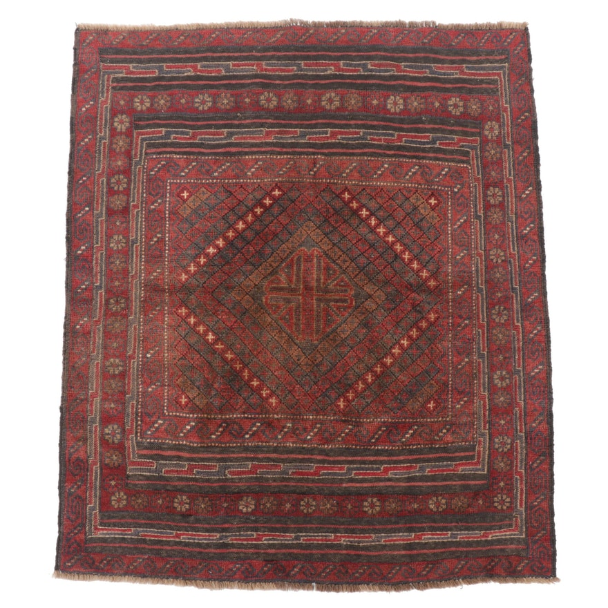 Hand-Knotted Yomut Wool Wedding Carpet