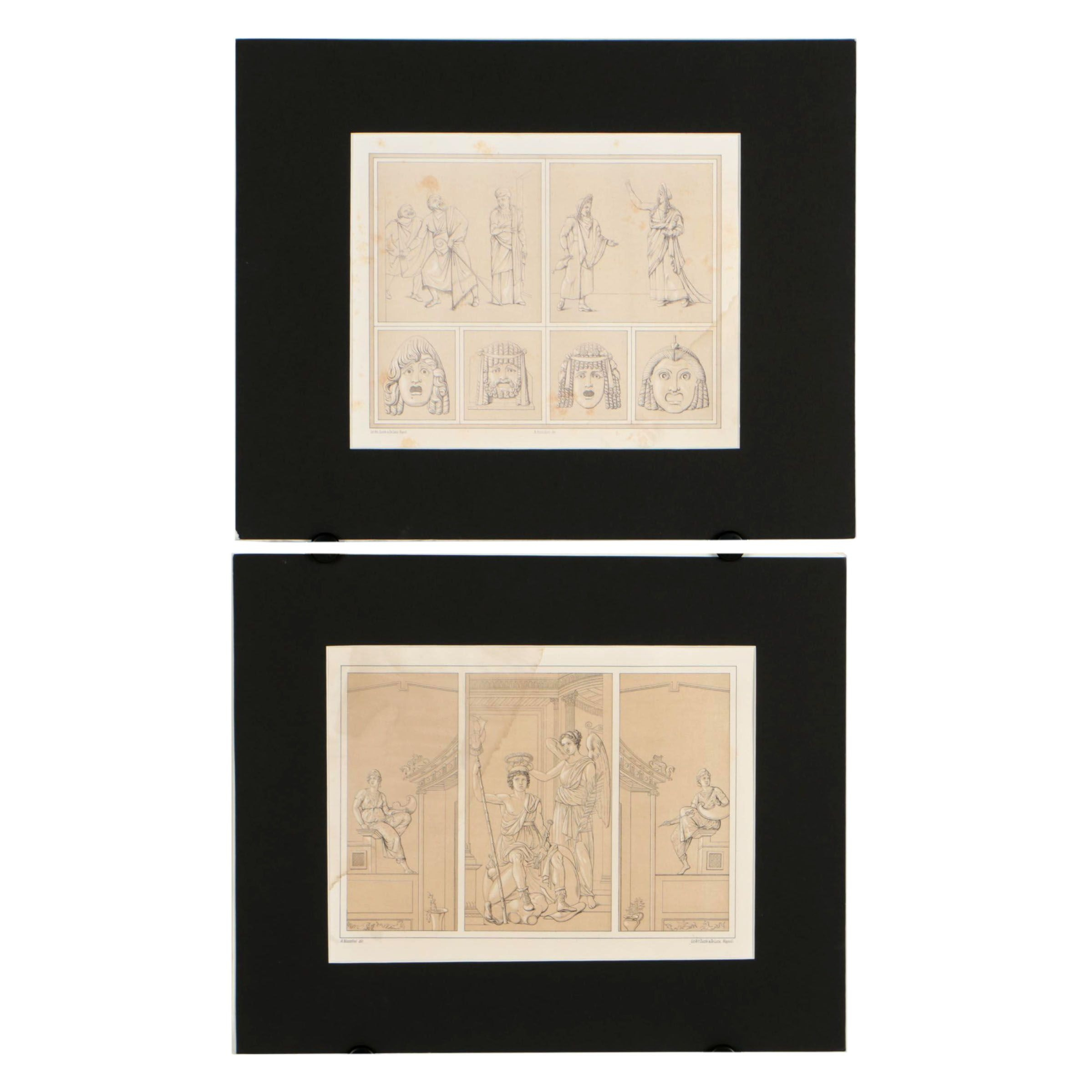 "Lithographs from Antonio Niccolini's ""Pompeii: Views and Restorations"""