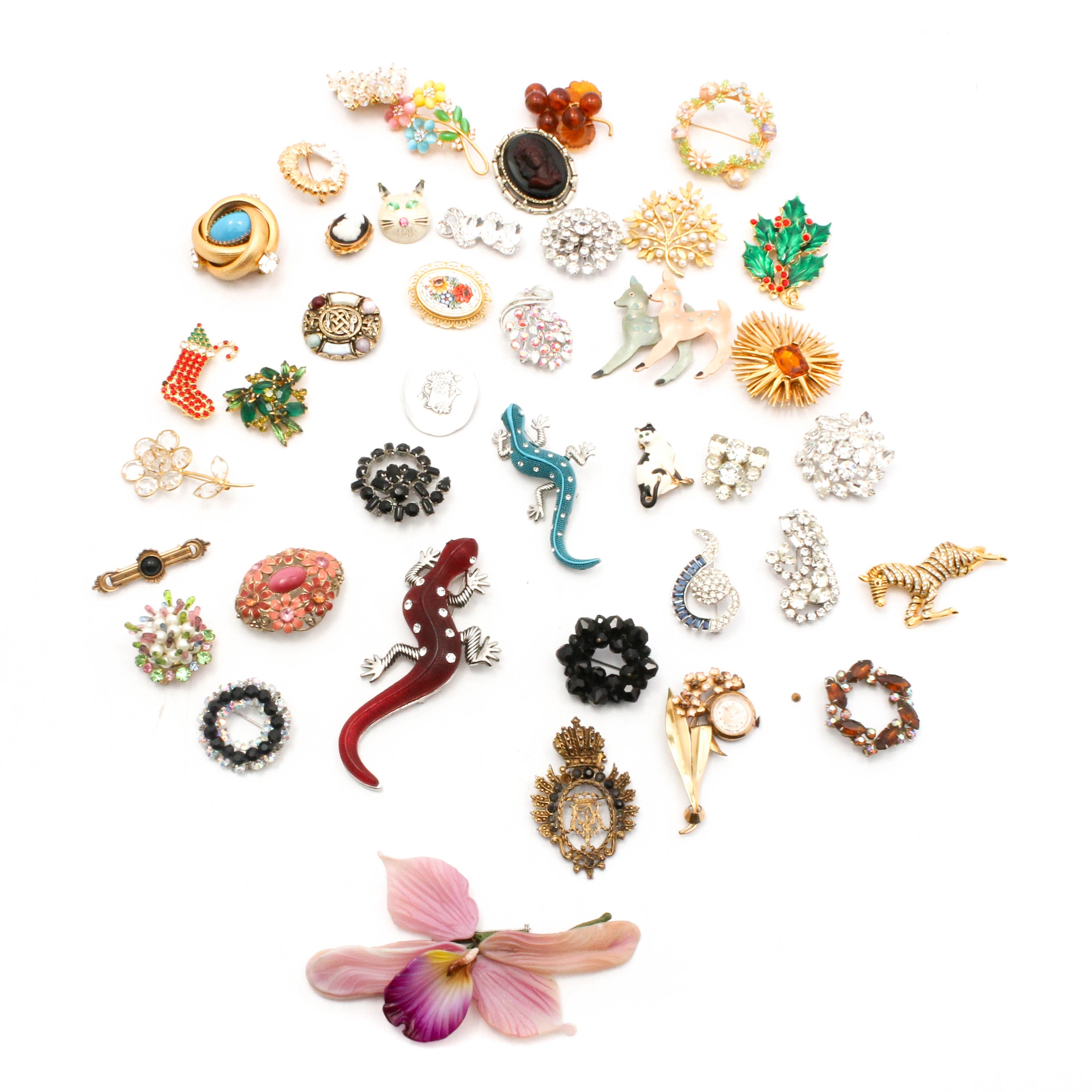 Vintage and Modern Brooch Collection