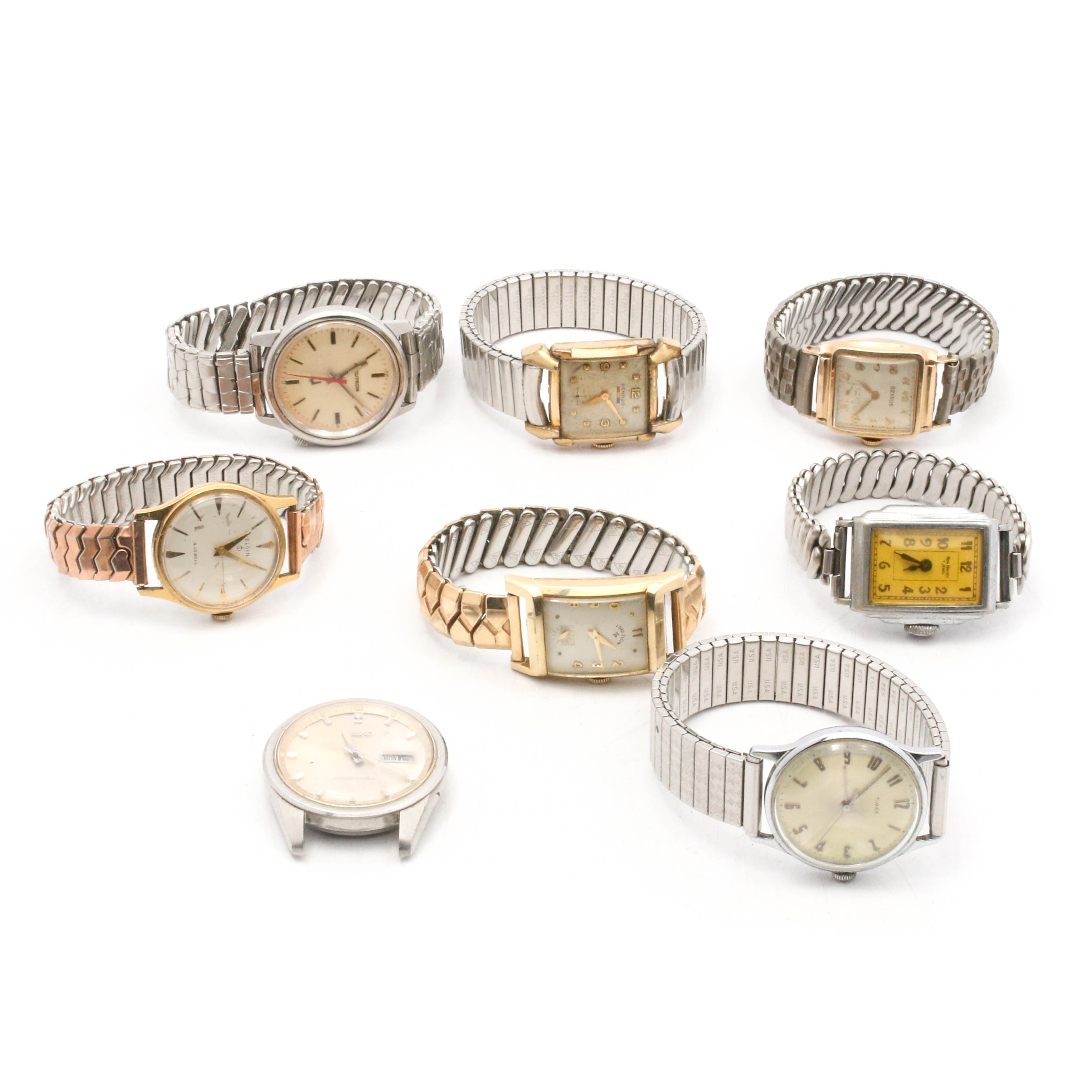 Vintage Wristwatches Featuring Elgin