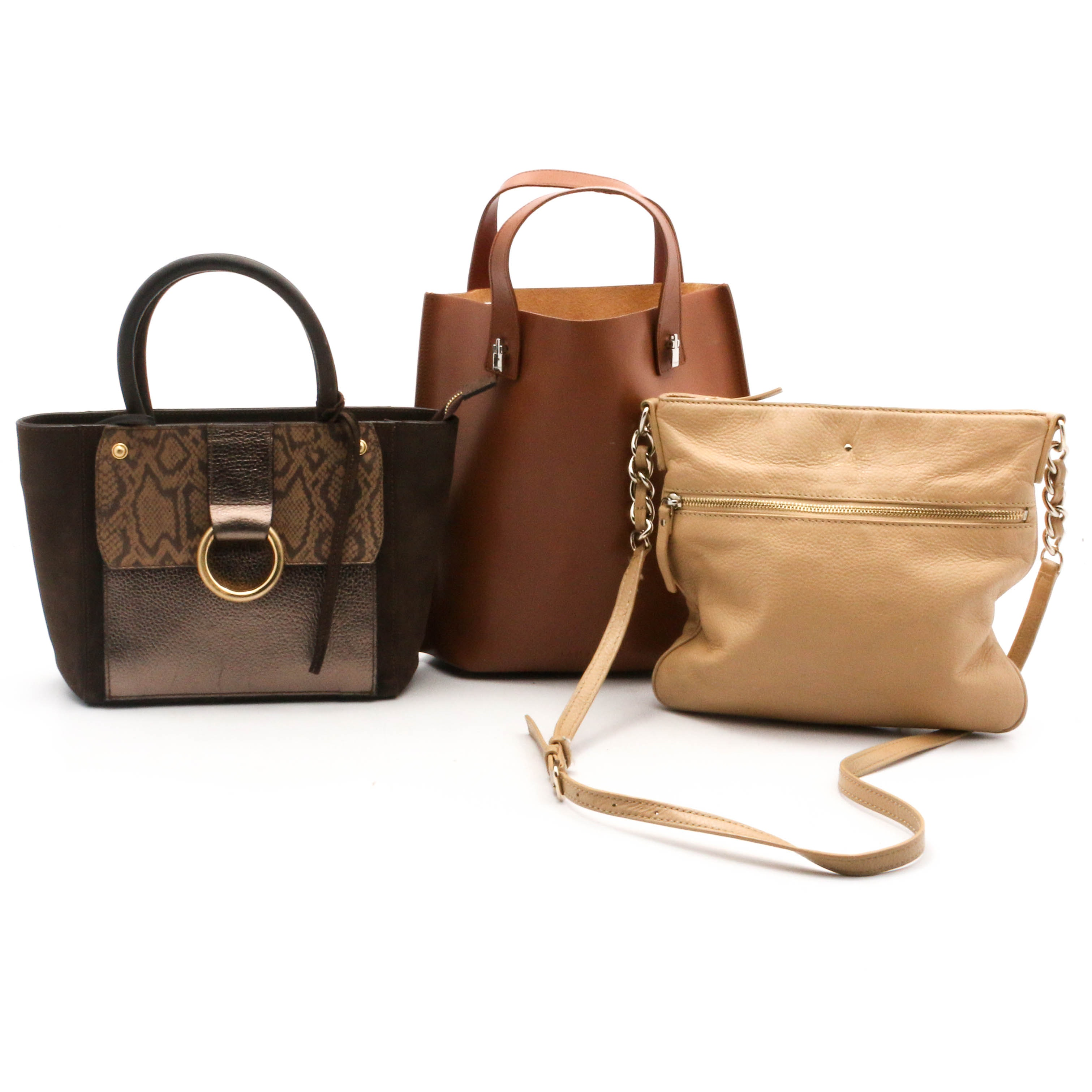 Kate Spade New York, Lamarthe, and Vittoria Napoli Leather Handbags