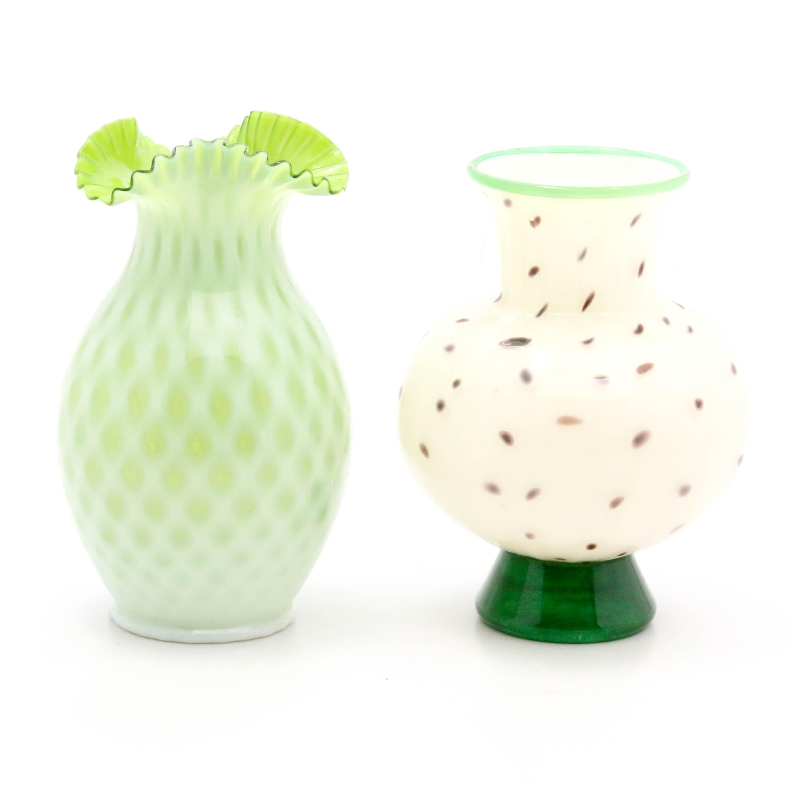 Vintage Hand-Blown Glass Vases
