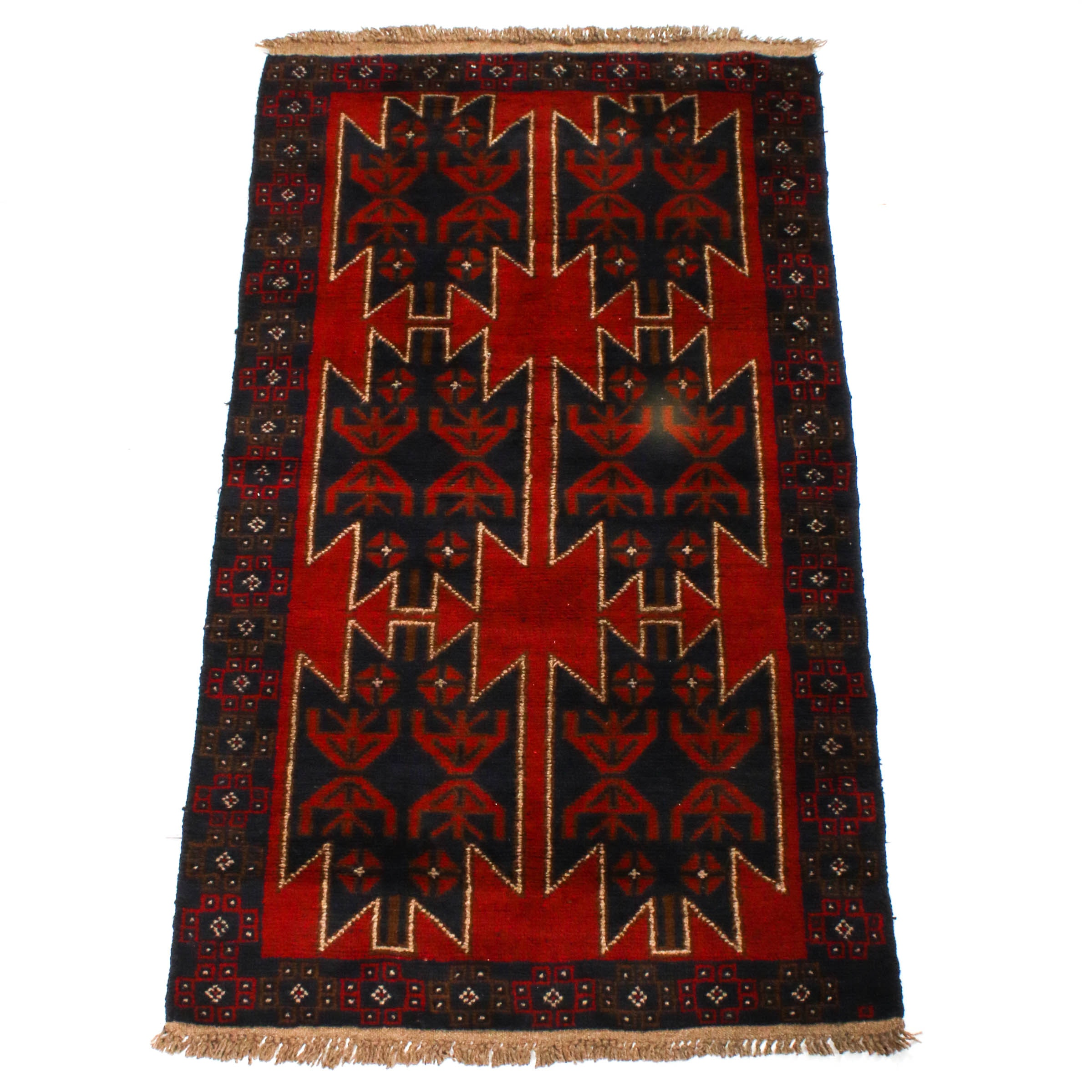 Hand-Knotted Afghan Bahor Area Rug