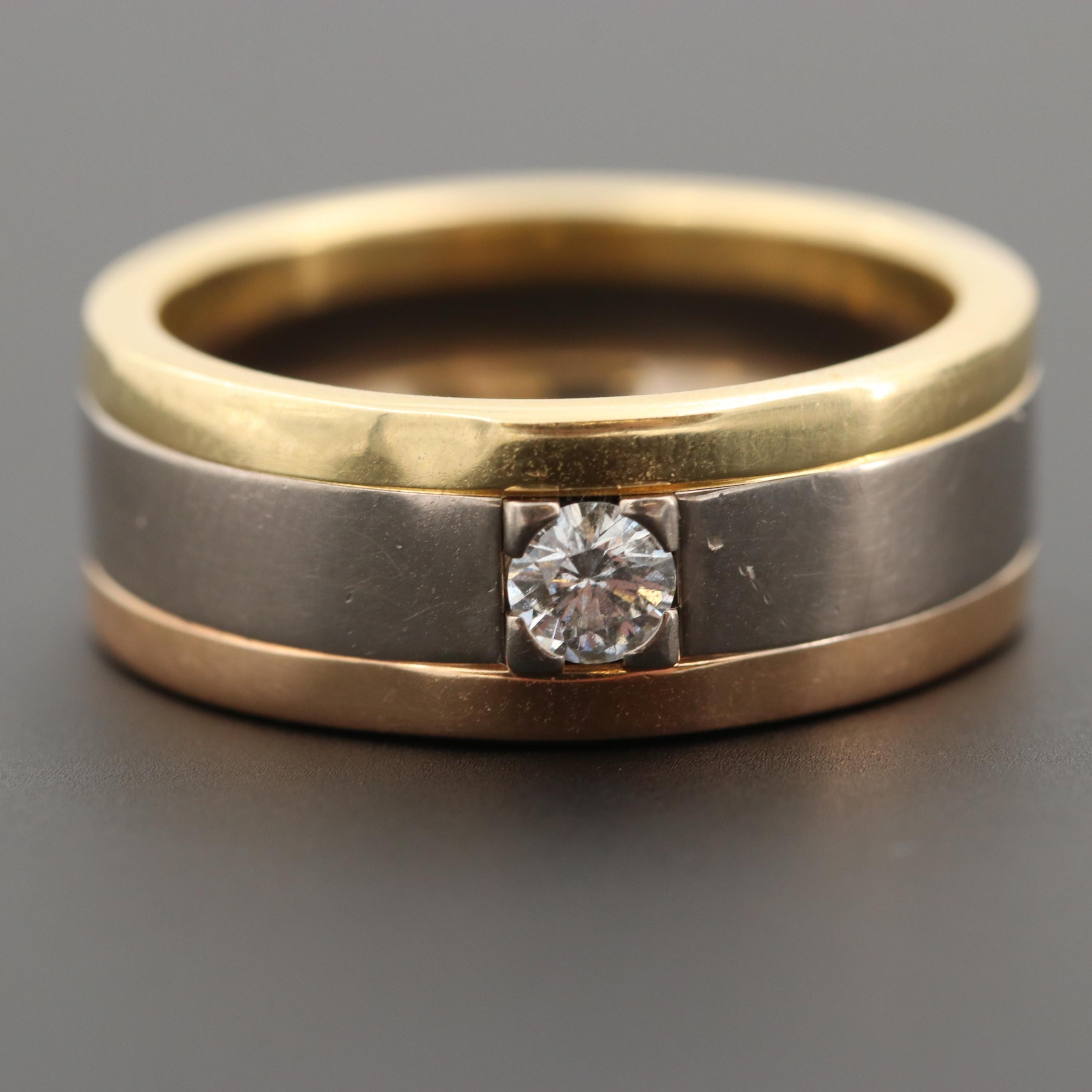 Cartier 18K White, Yellow and Rose Gold Diamond Ring