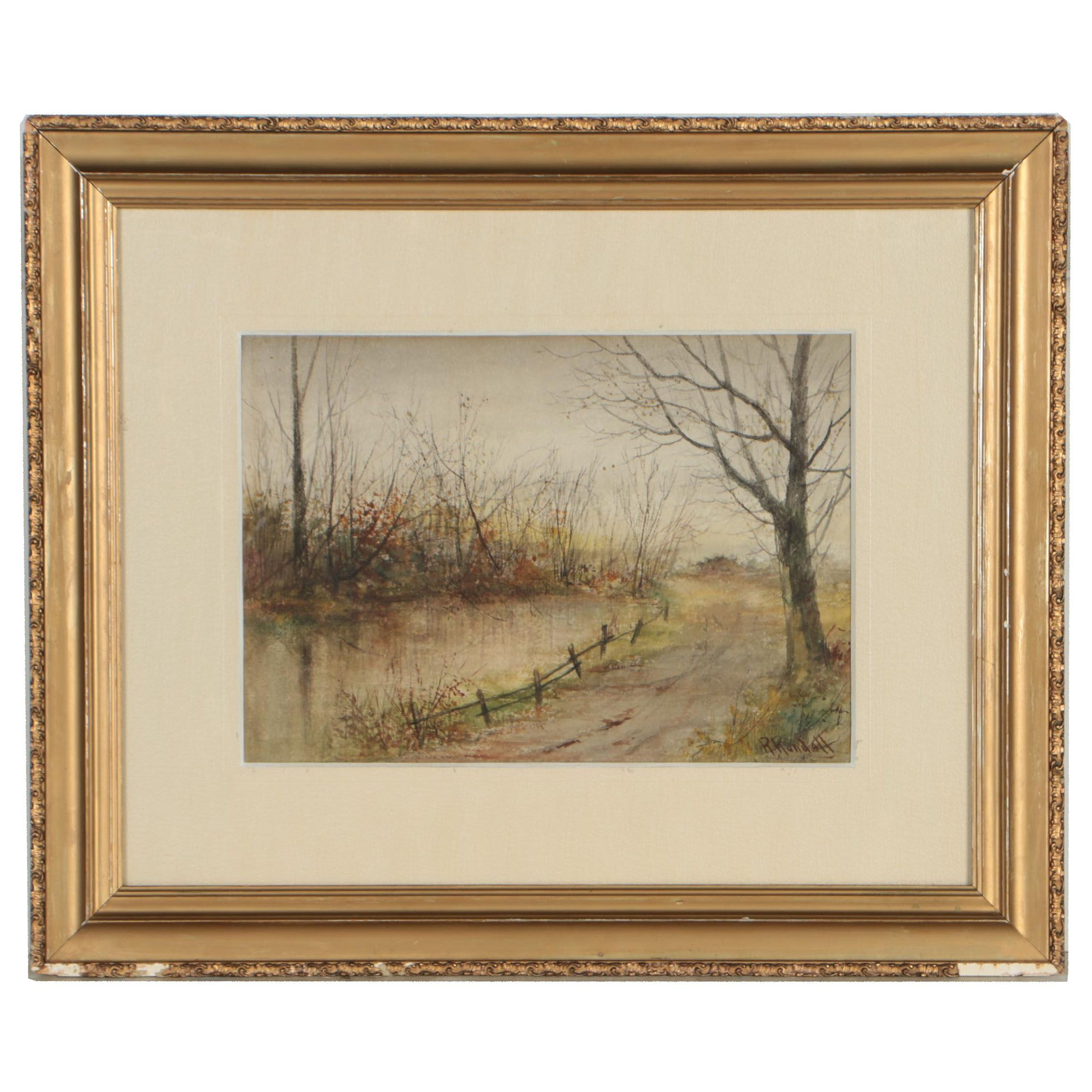 R. Randall Landscape Watercolor Painting