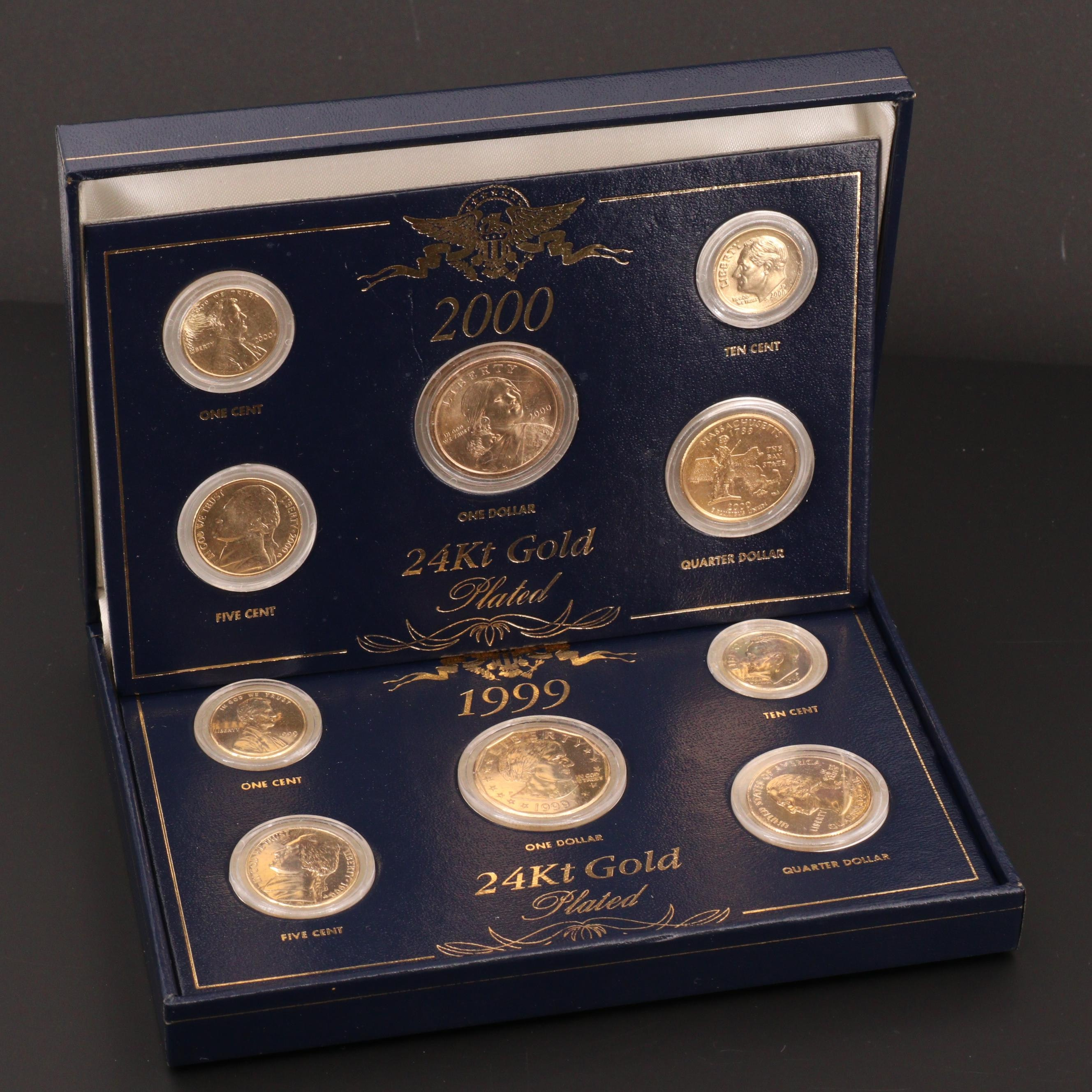 Ten Gold Plated U.S. Coins