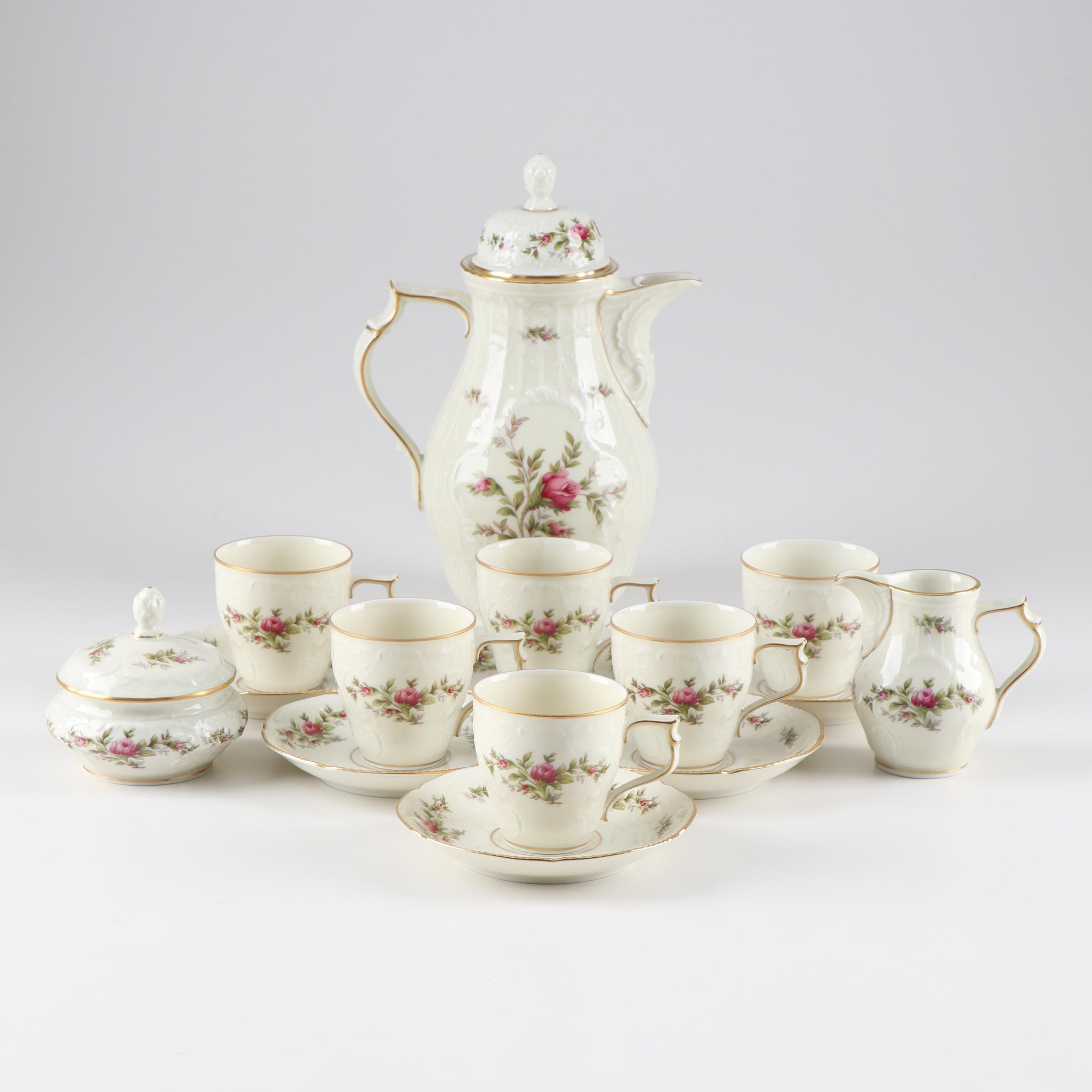 """Rosenthal """"Classic Rose"""" Porcelain Coffee Service"""
