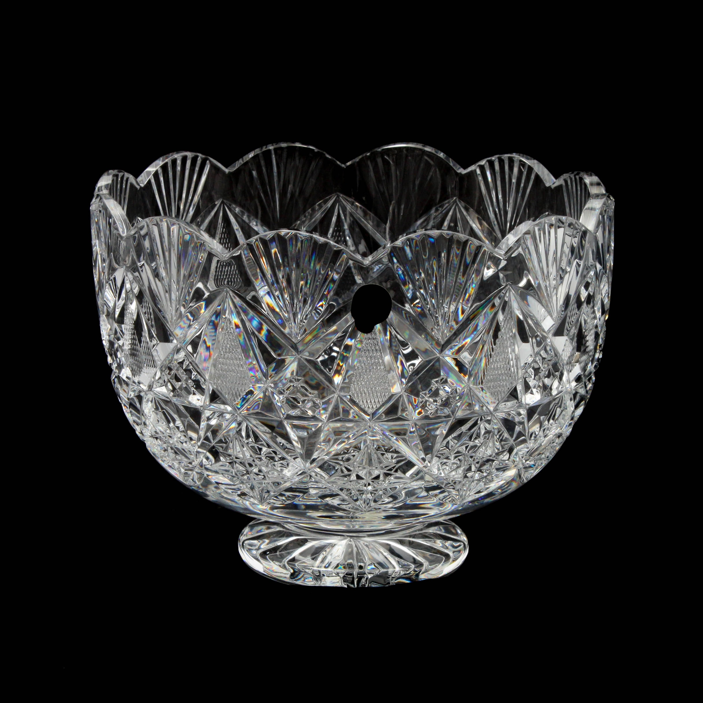 "Waterford ""Sinclaire"" Cut Crystal Centerpiece Bowl"