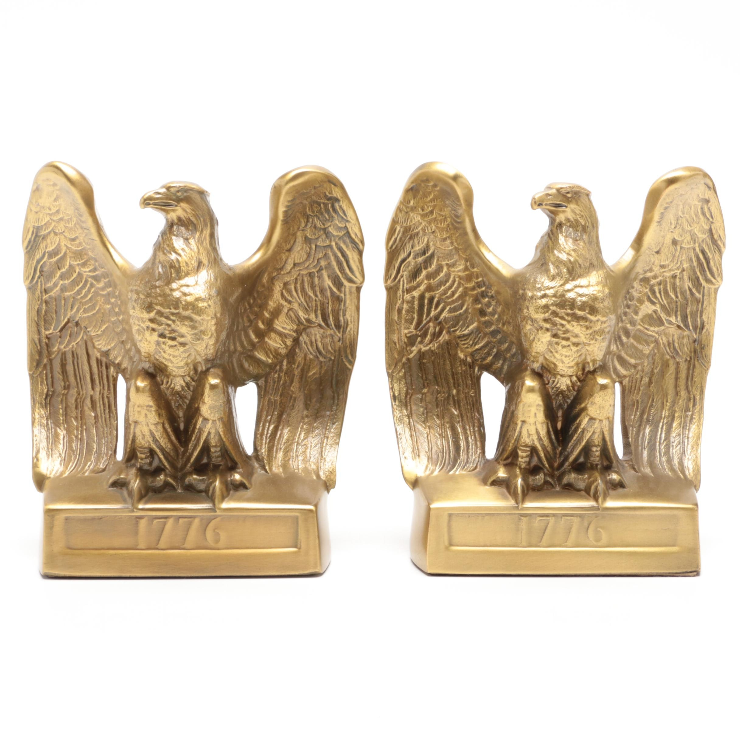 "PM Craftsman Metal Eagle ""1776"" Bookends"