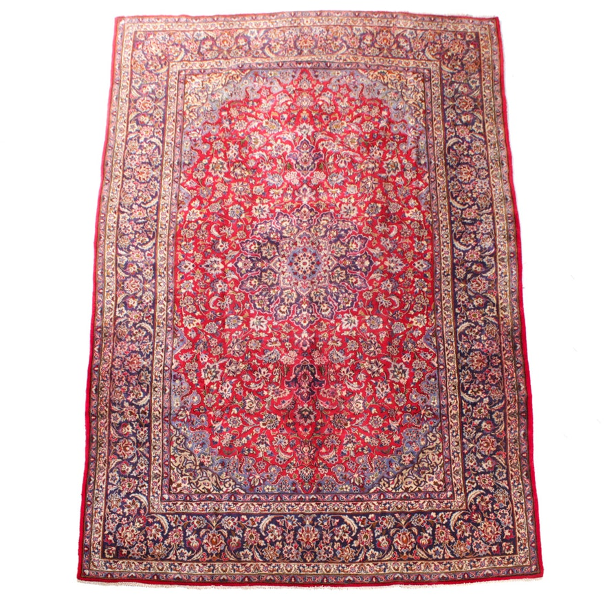 Hand-Knotted Persian Isfahan Wool Room Sized Rug