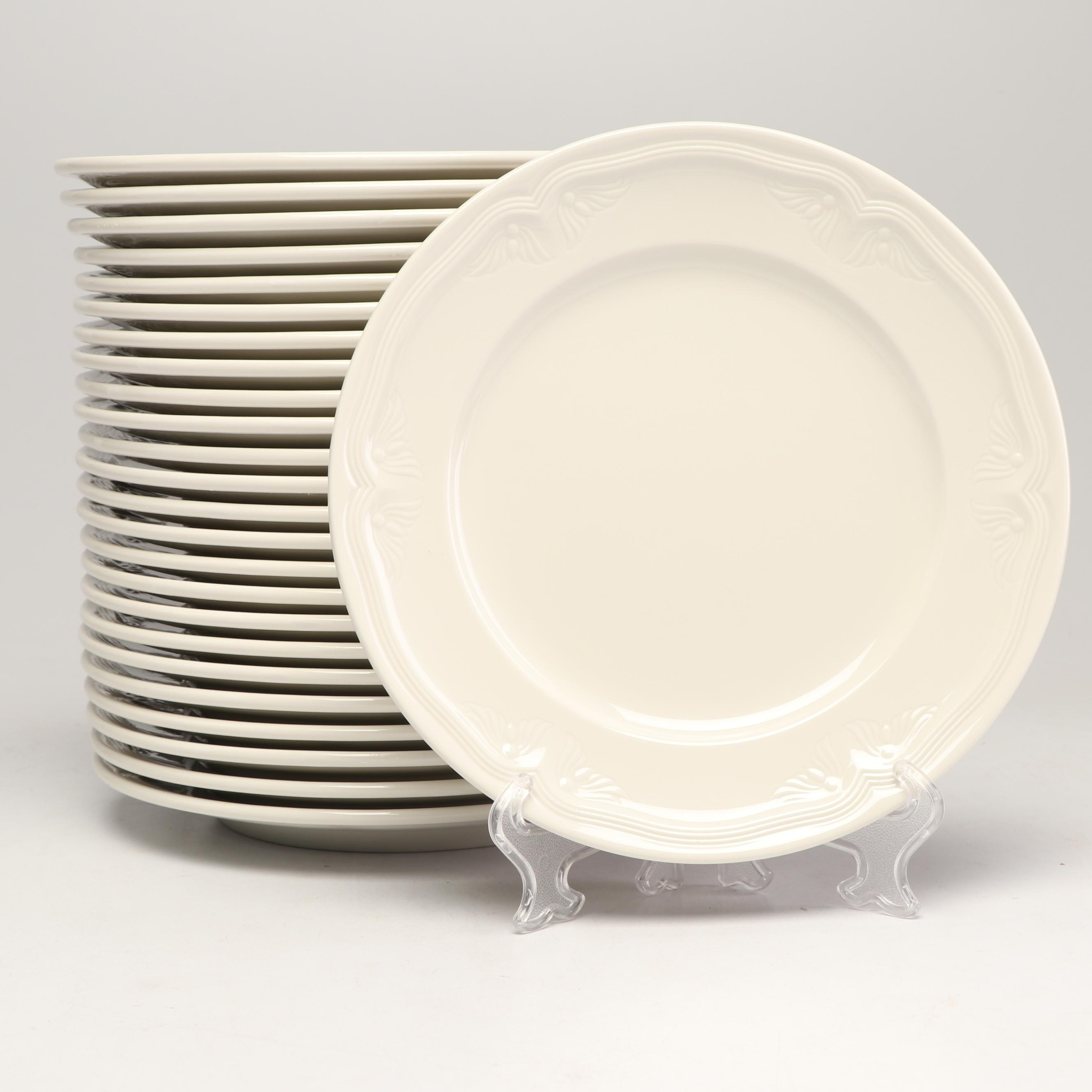"""Villeroy & Boch """"Cortina"""" Porcelain Bread and Butter Plates, Late 20th Century"""
