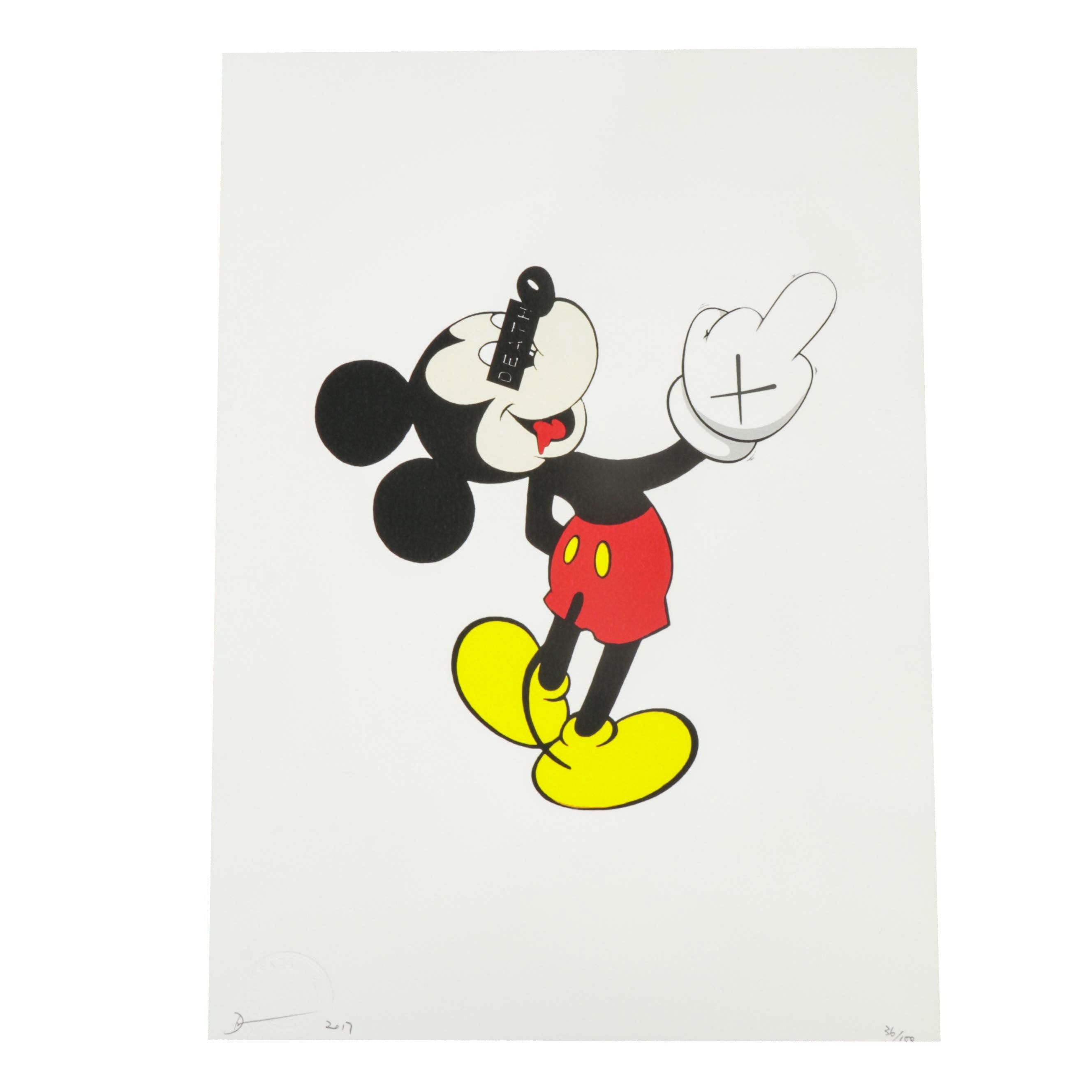 """Death NYC Offset Print """"Mouse Finger"""""""