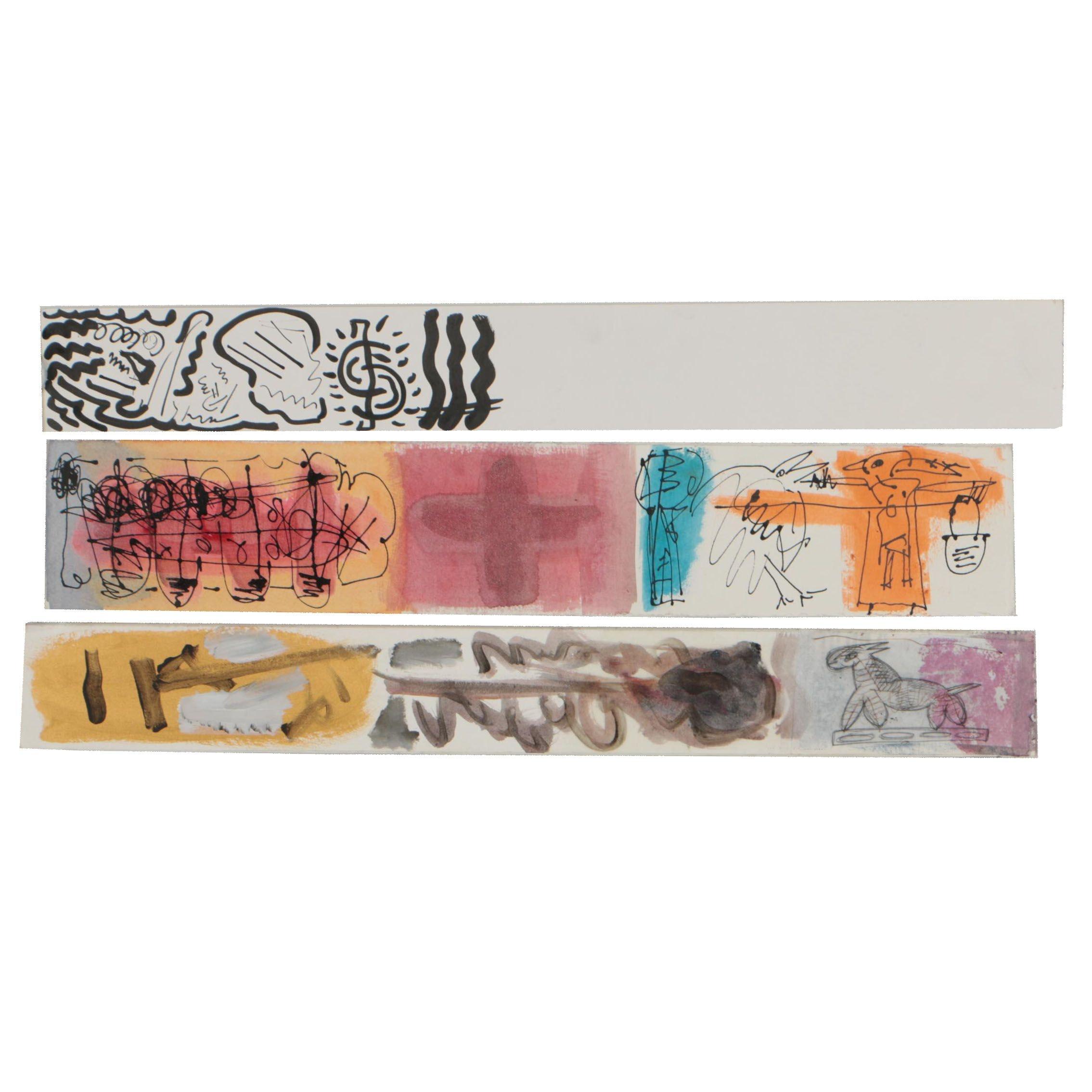 Merle Rosen Abstract Mixed Media Drawings