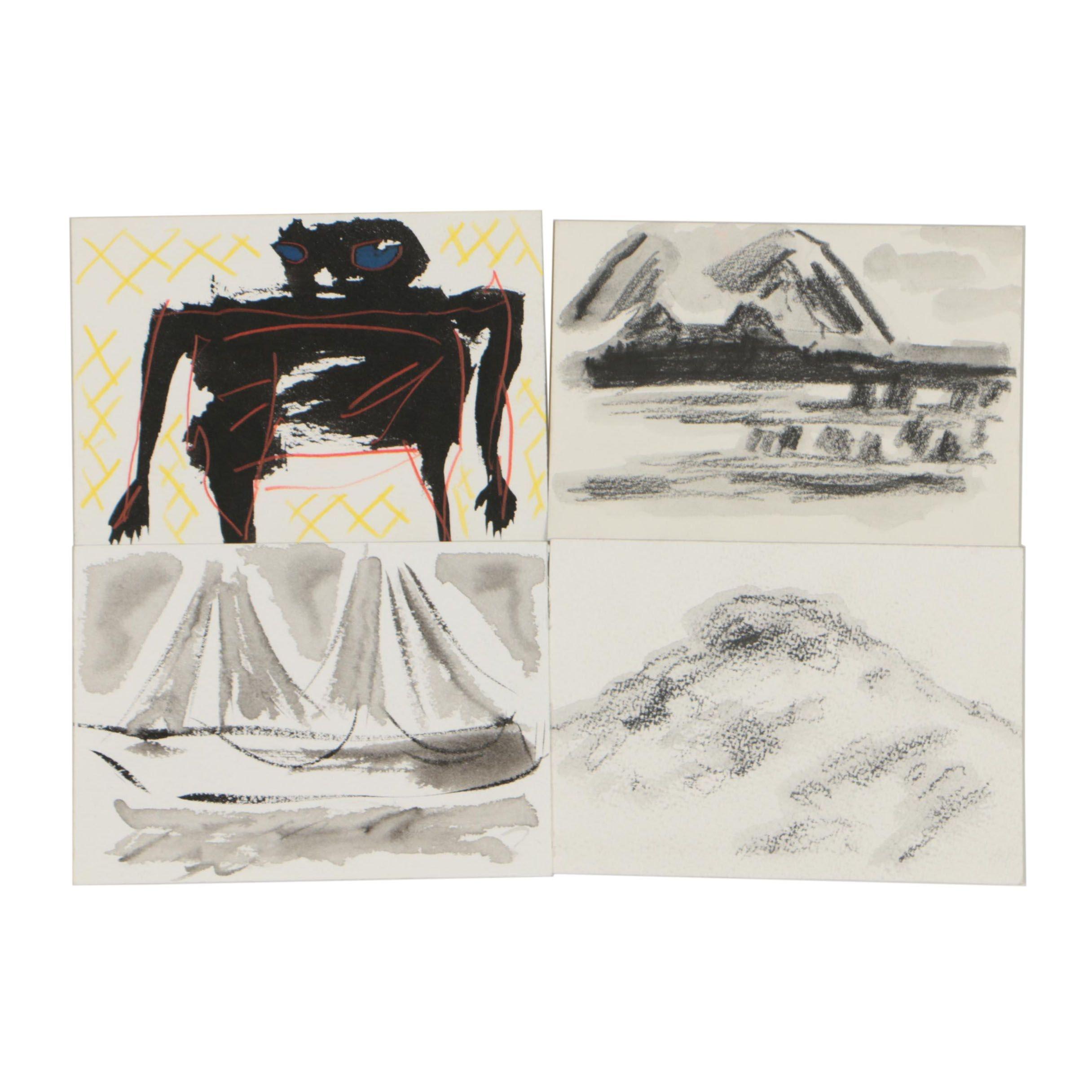 Merle Rosen 1991-2009 Abstract Mixed Media Paintings