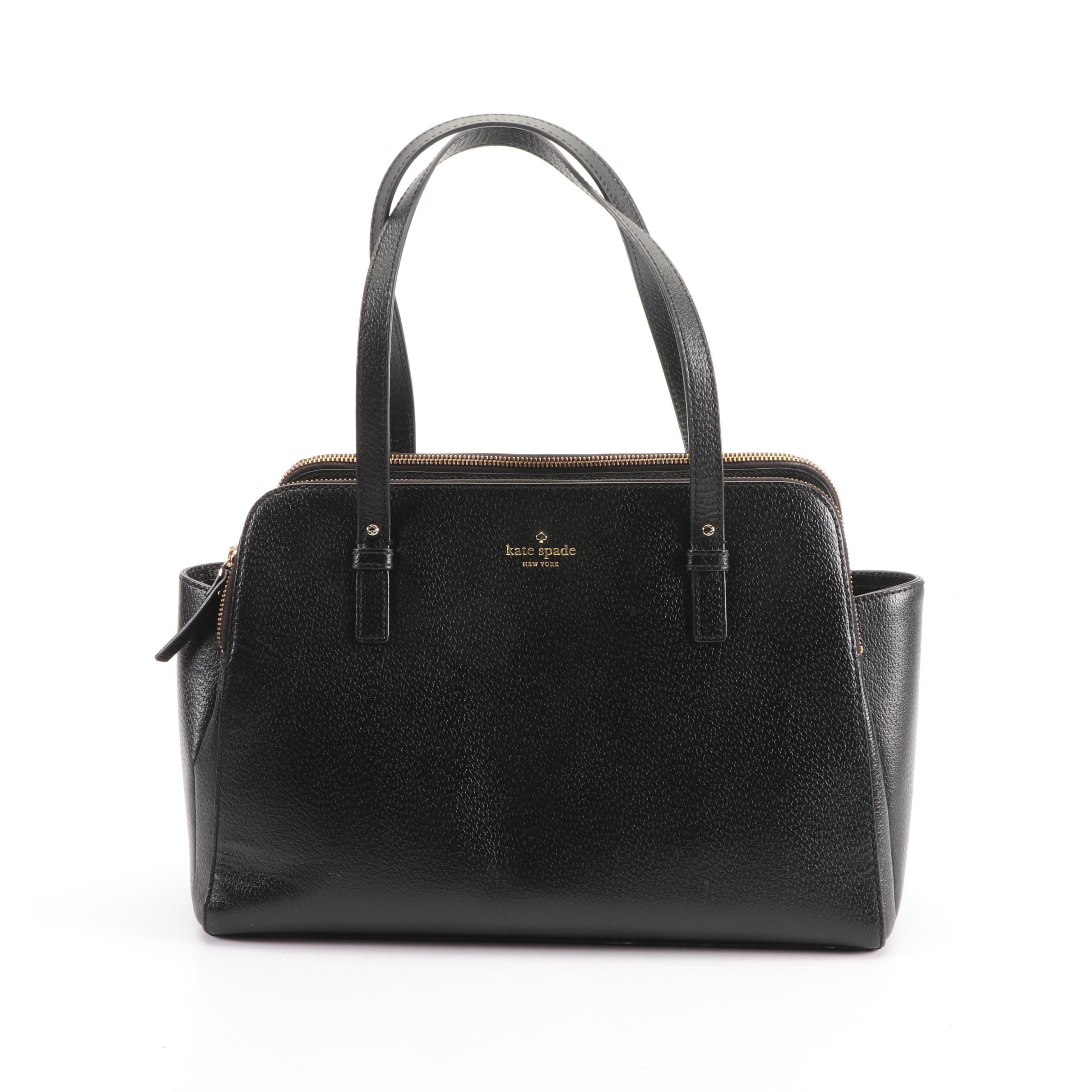 Kate Spade New York Black Leather Satchel