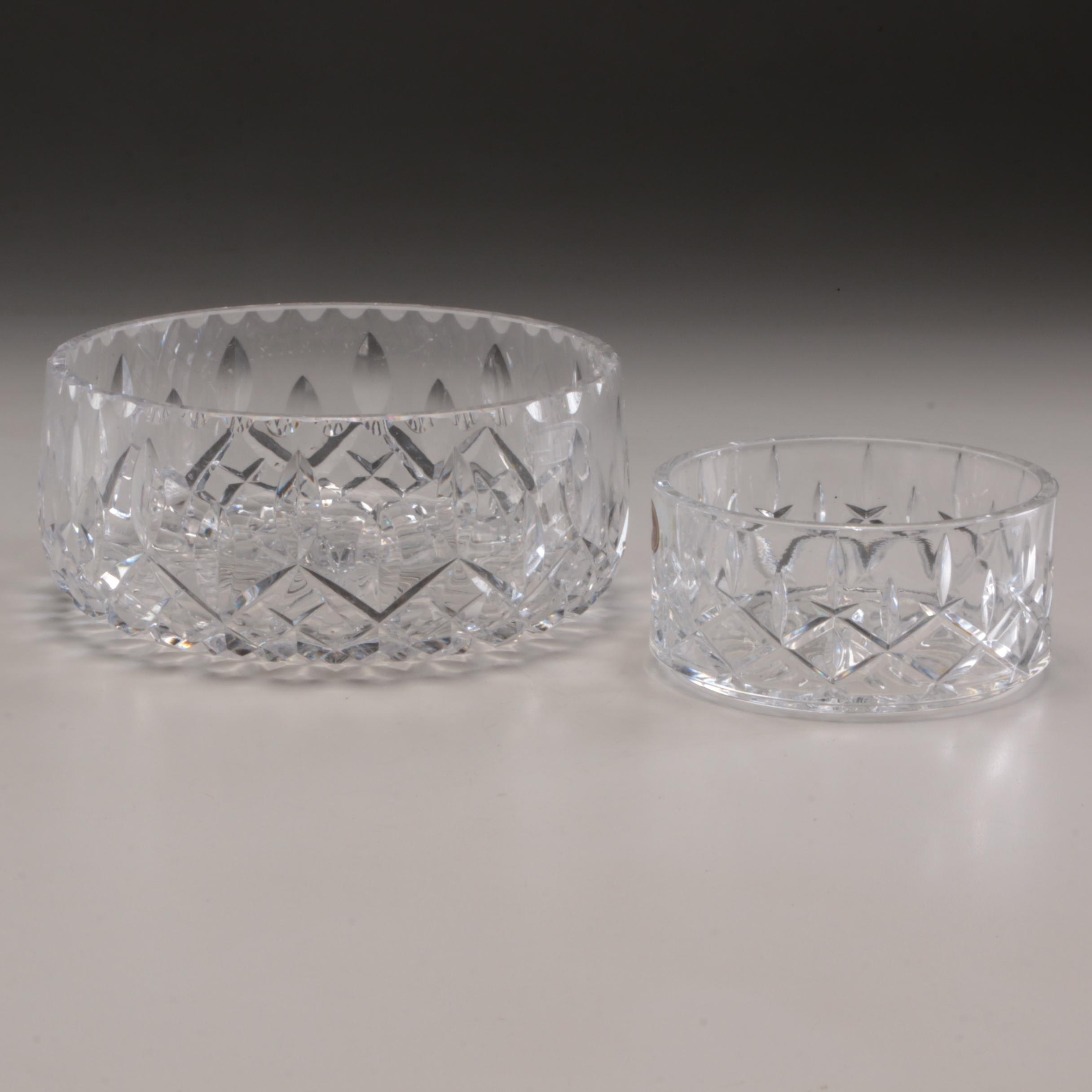 Gorham Crystal Candy Bowl and Crystal Centerpiece
