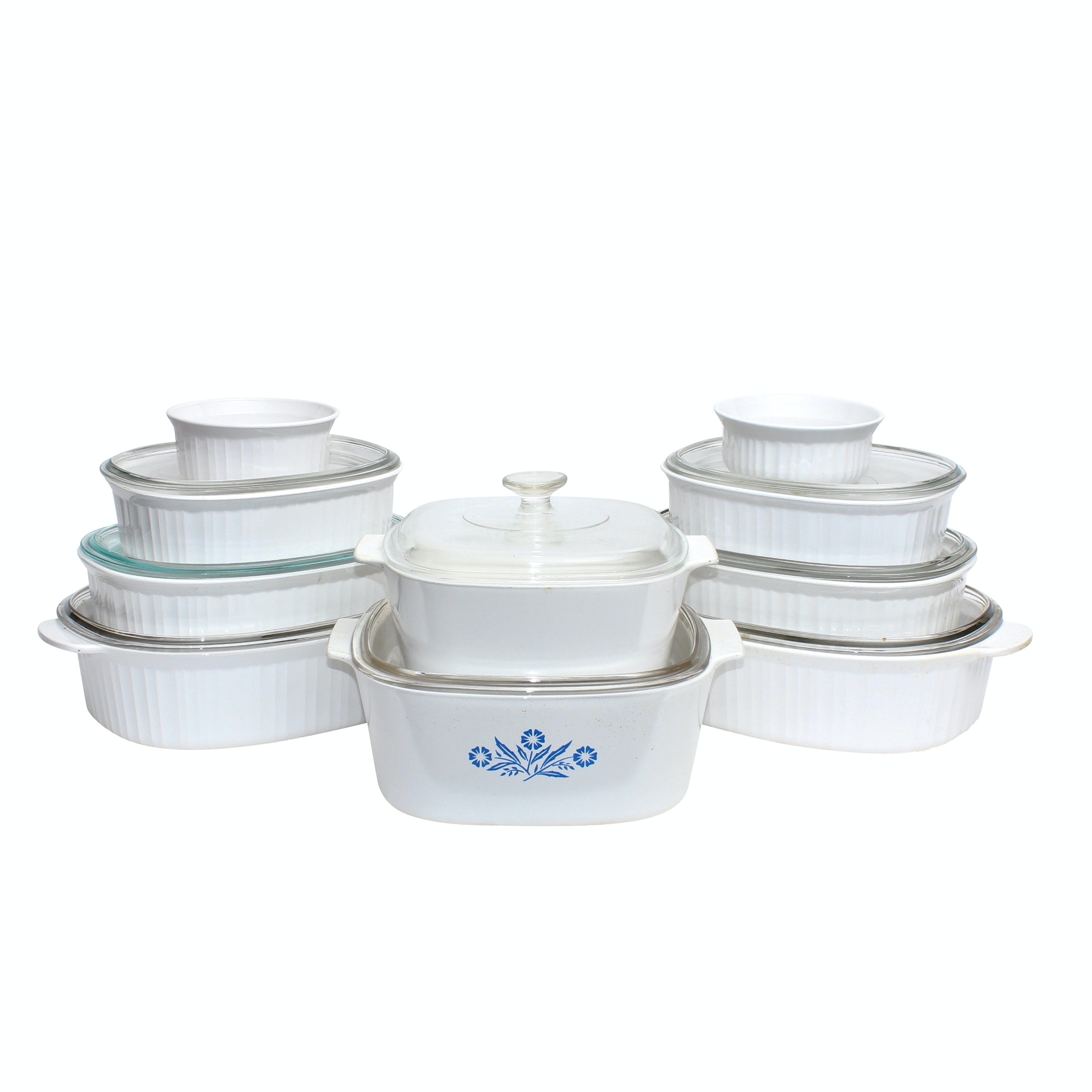 "CorningWare ""French White"" Bakeware"