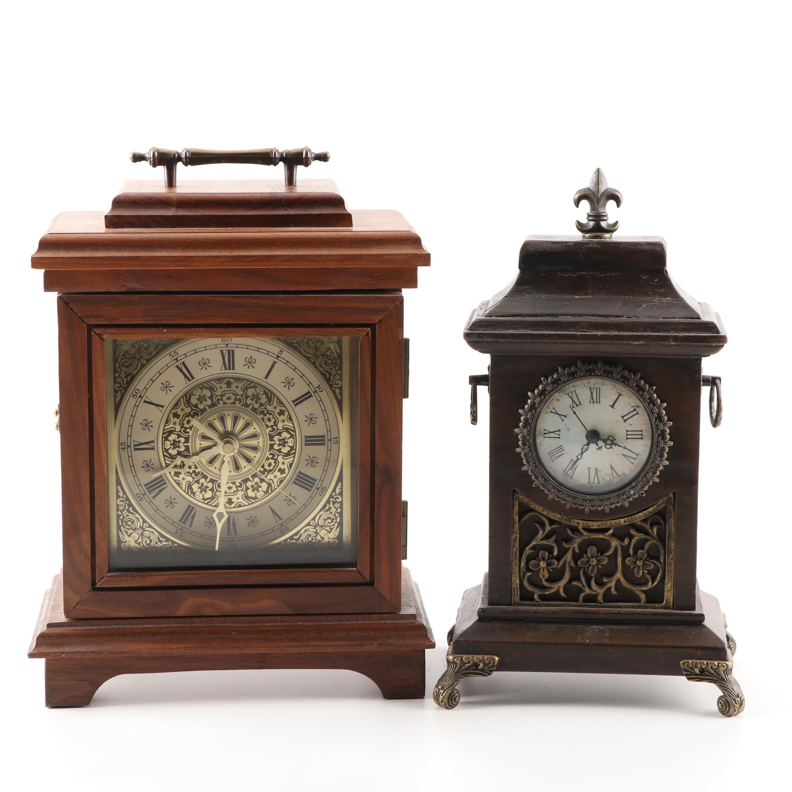 Wood Carriage Clocks, Late 20th Century