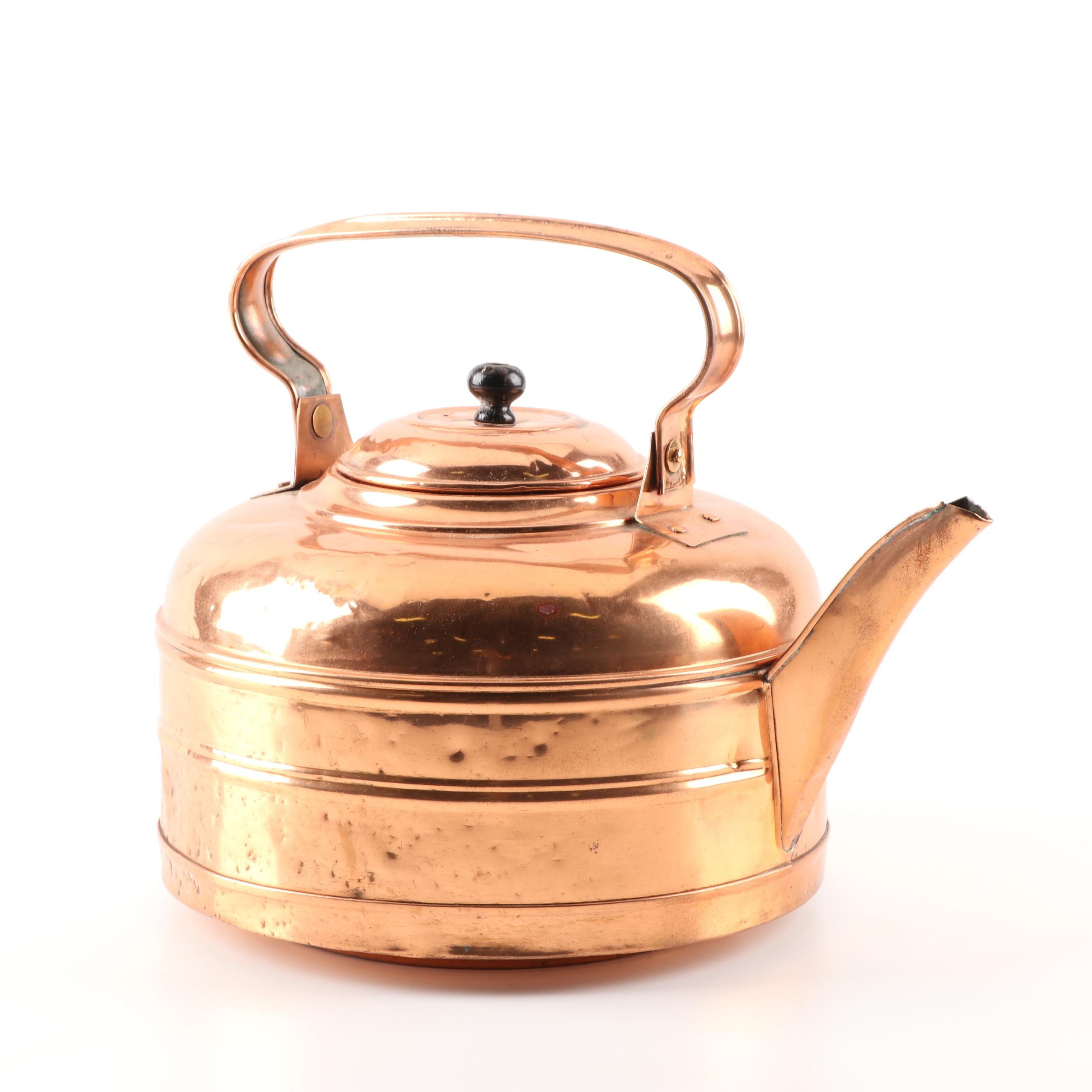 Copper Glade Large Tea Kettle, Mid to Late 20th Century