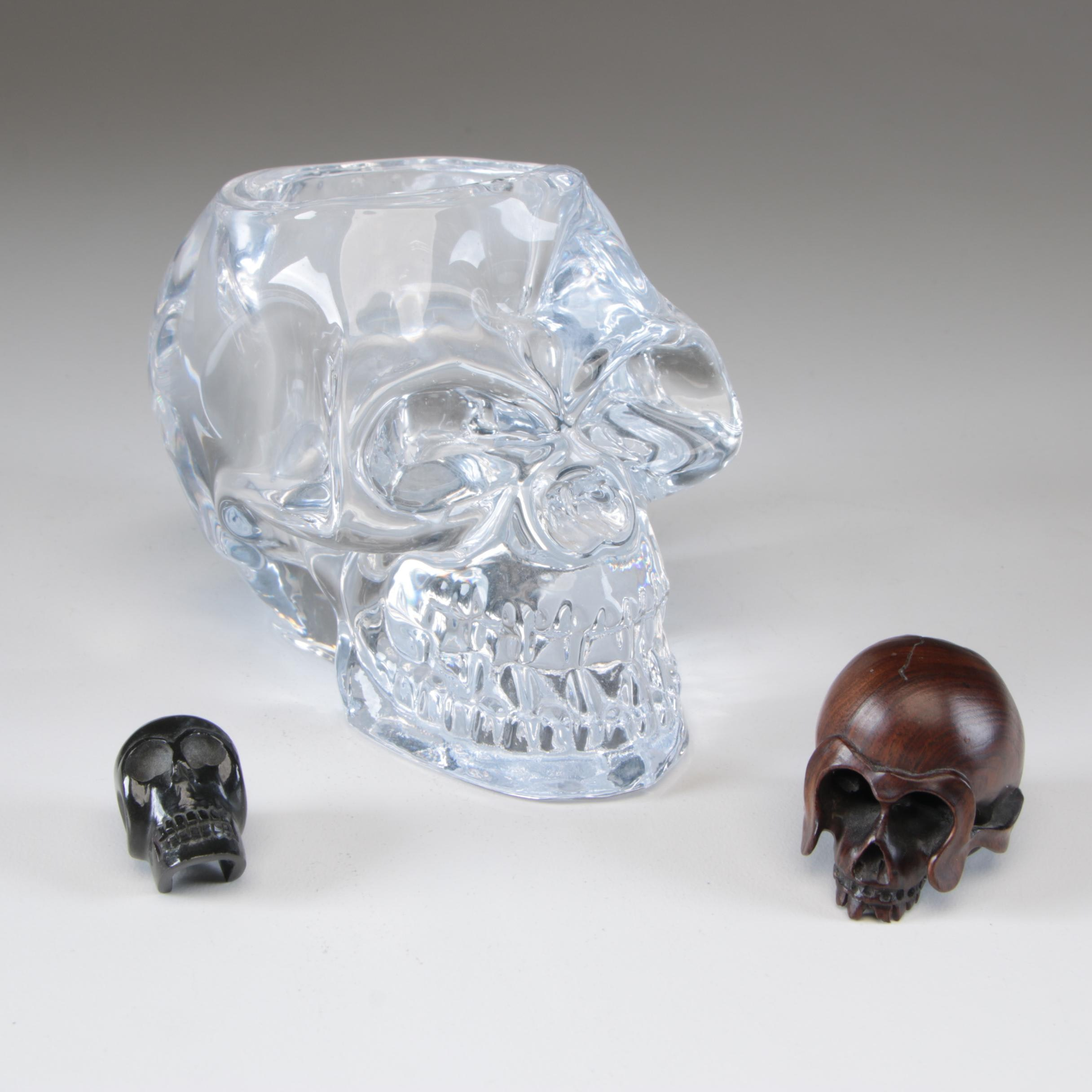 Skull Carvings and Candle Holder