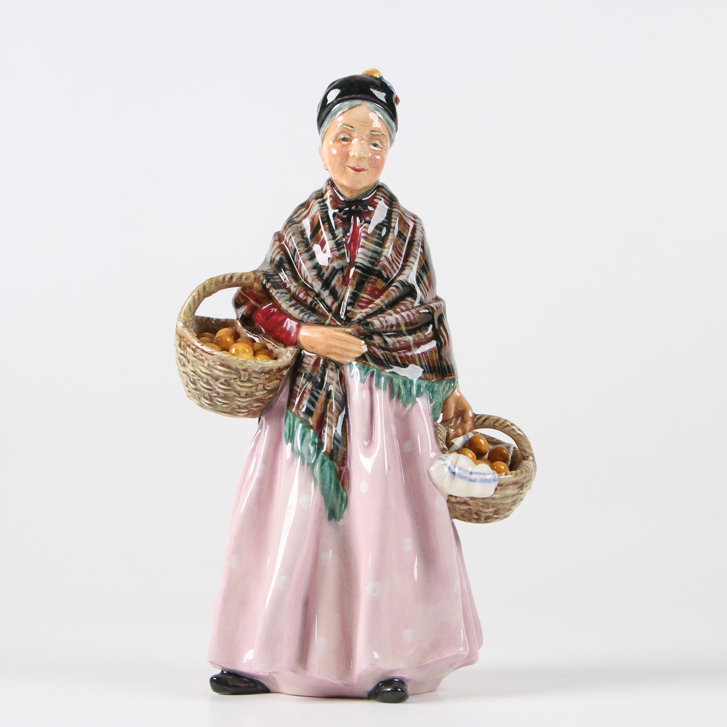 "Royal Doulton ""The Orange Lady"" Bone China Figurine, Circa 1940"