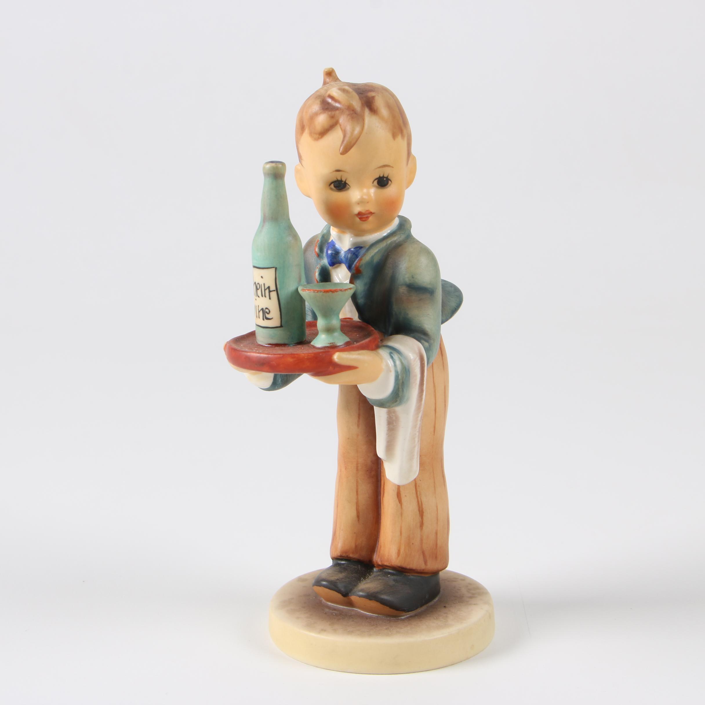 """Hummel Goebel """"Waiter"""" Porcelain Figurine, 1972–1979"""