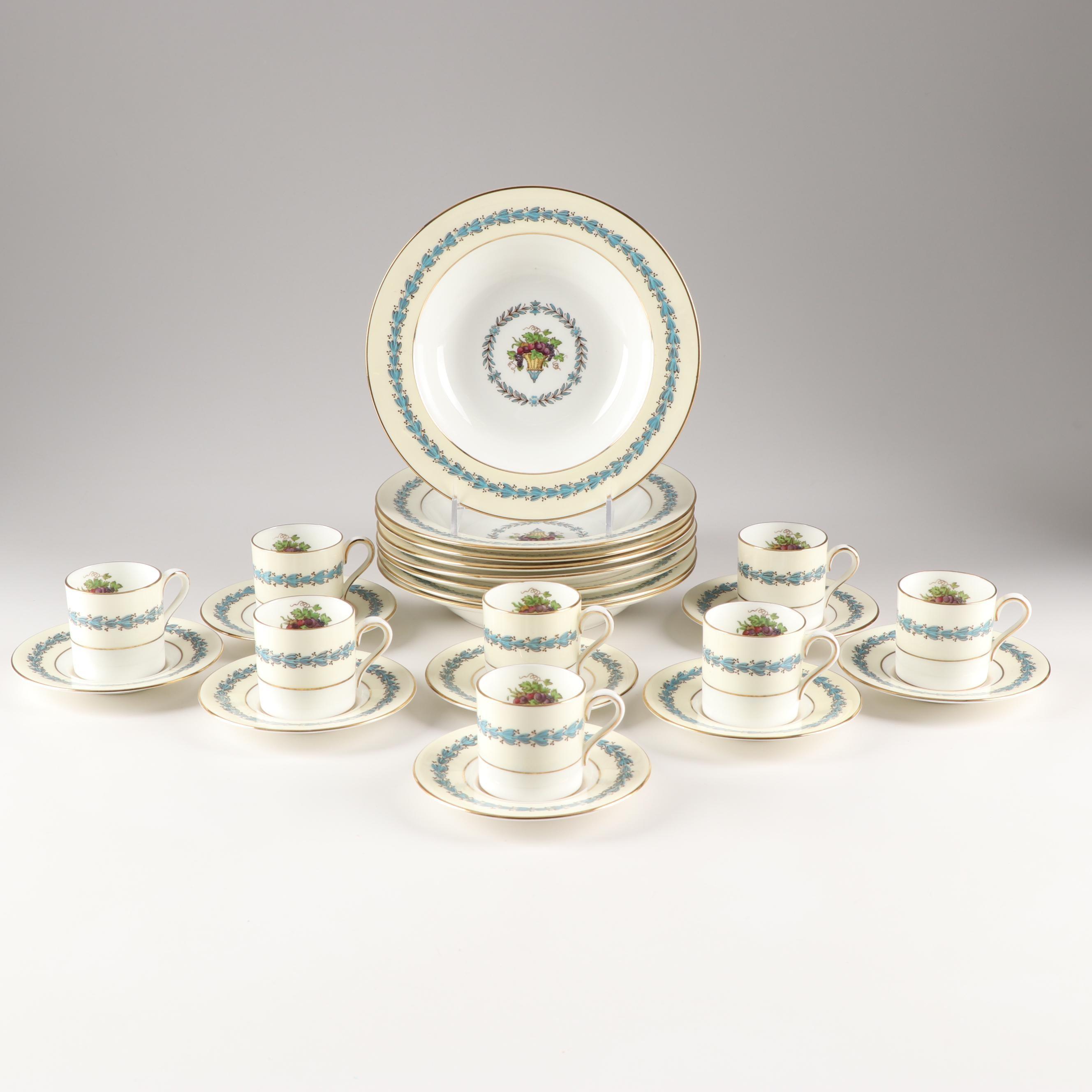 "Wedgwood ""Appledore"" Bone China Demitasse Cups, Saucers and Bowls"