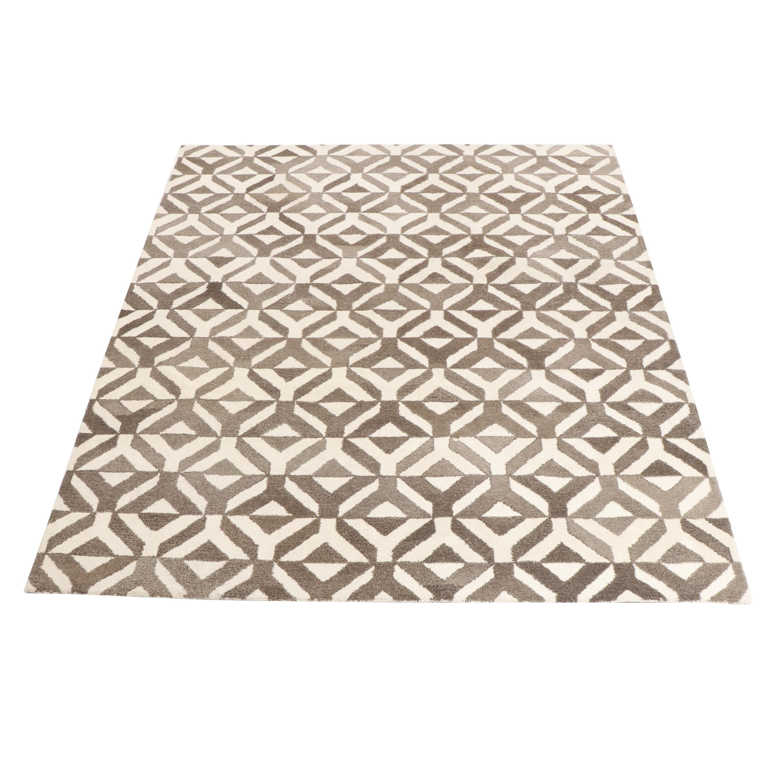 "Tufted West Elm ""Marquis"" Indian Wool Area Rug"