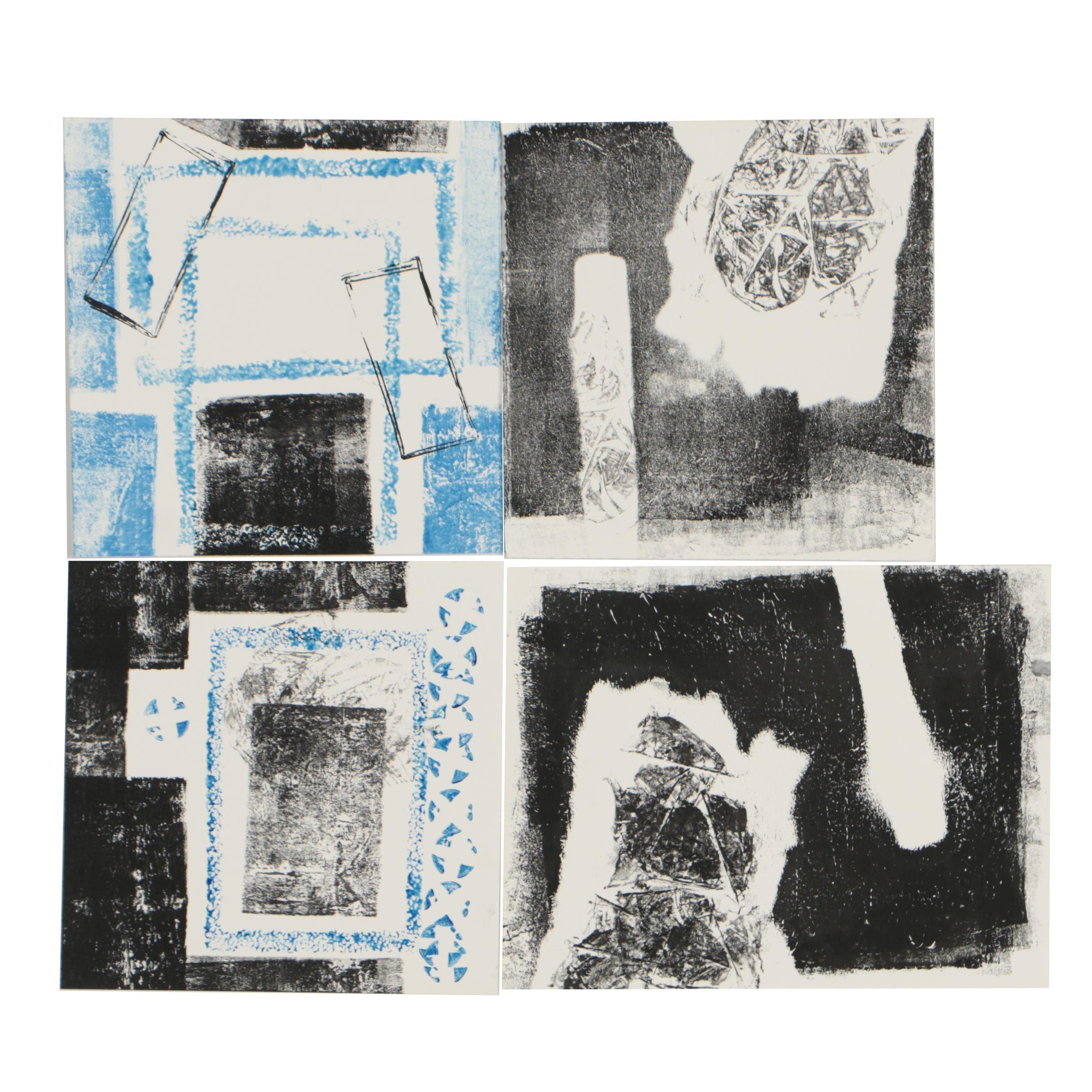 Merle Rosen Monoprints of Abstract Scenes
