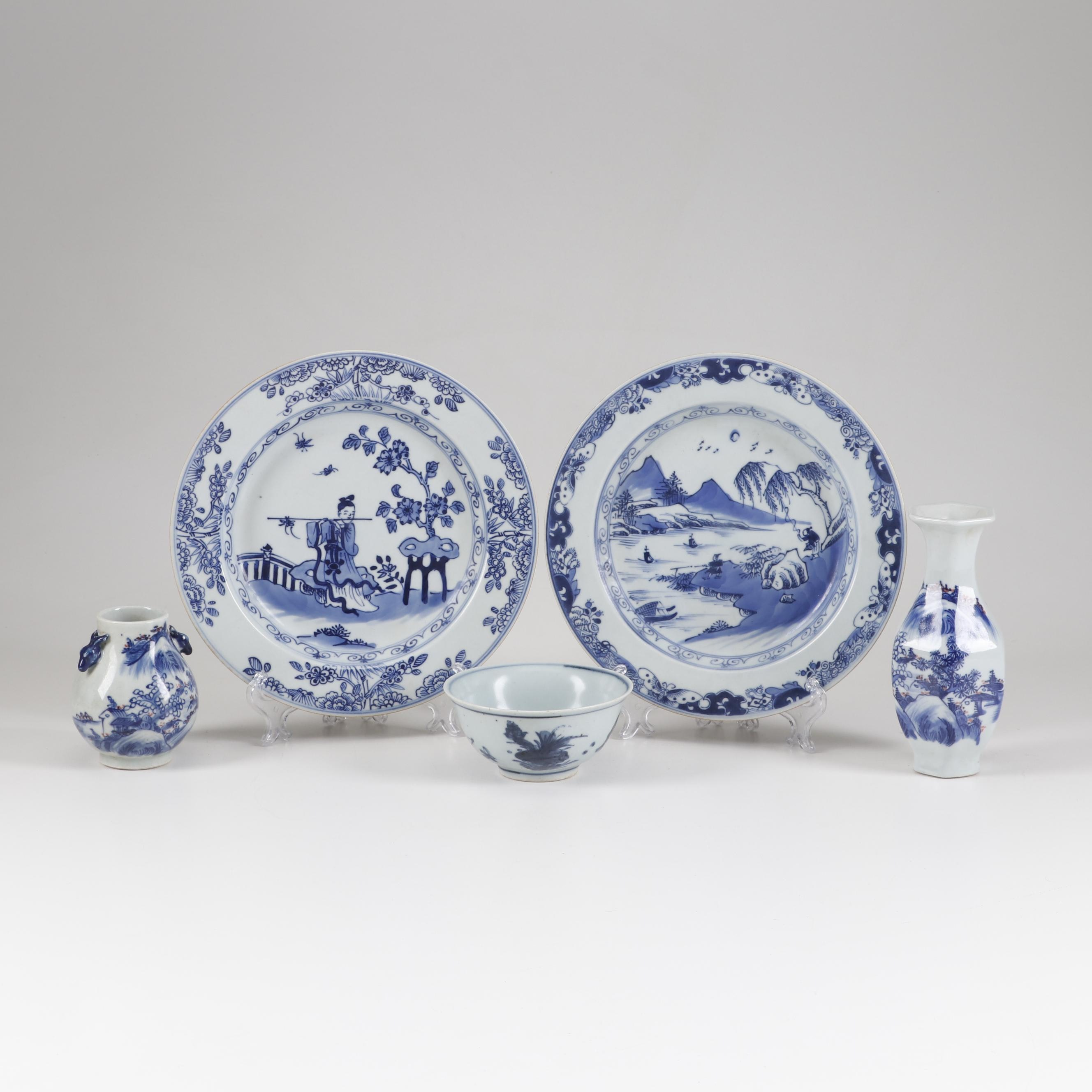 Chinese 'Hundred Deer' Porcelain Deer and Other Ceramics