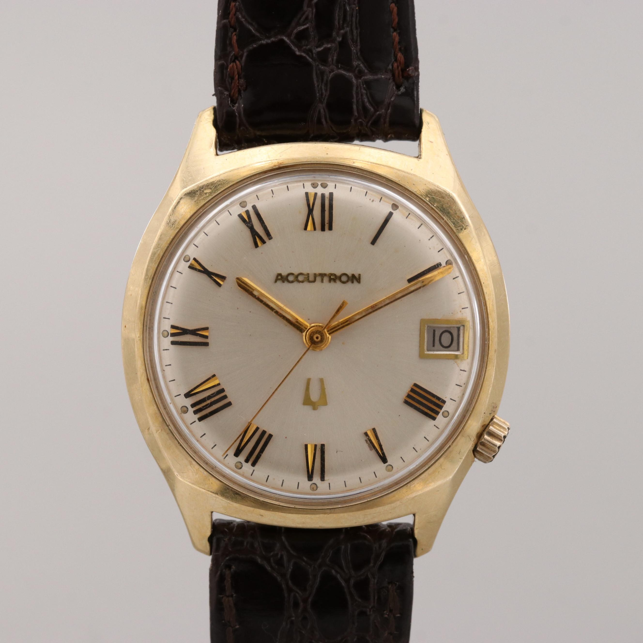 Vintage Bulova Accutron Wristwatch With Date Window