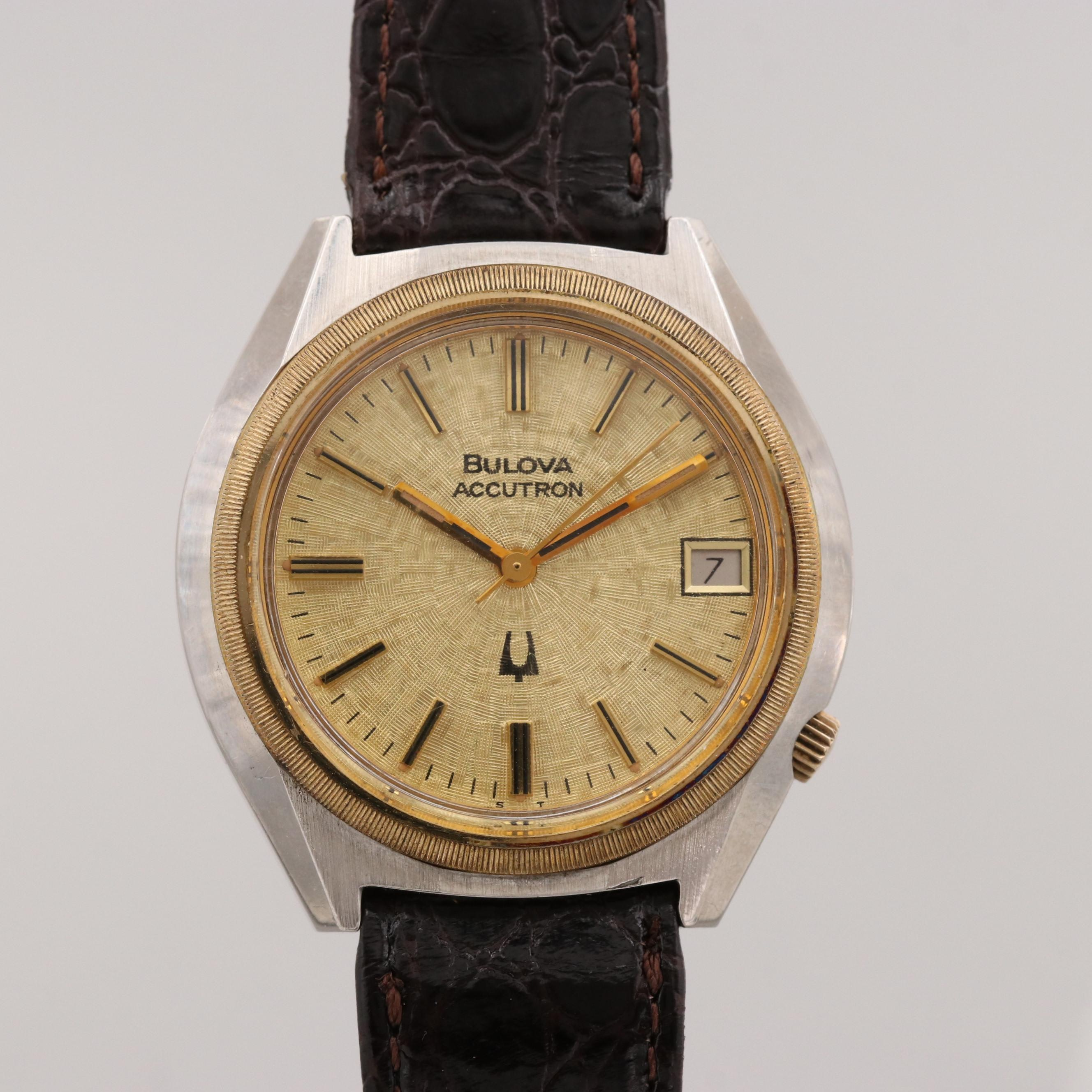 Bulova Accutron Wristwatch With Date Window, 1977