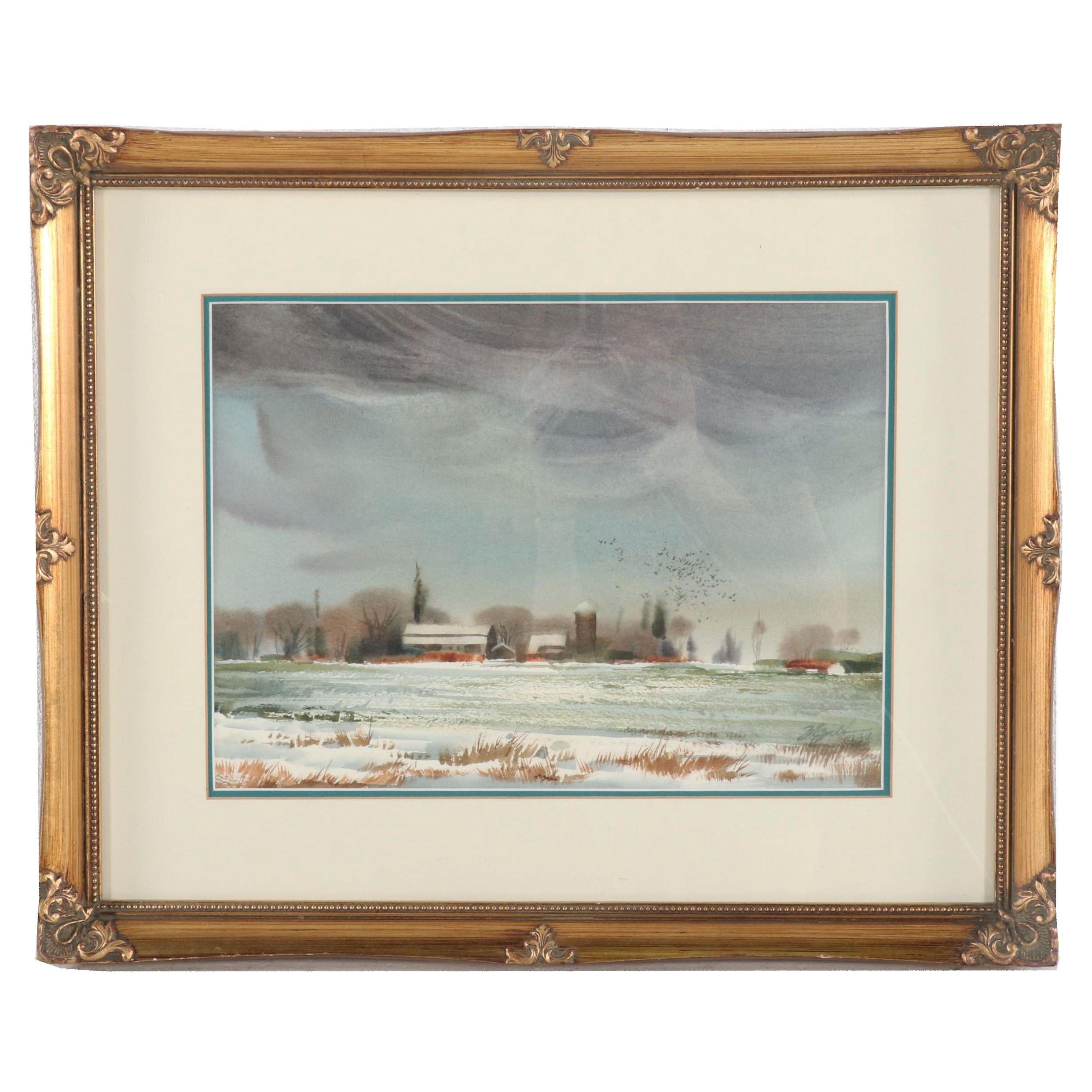 Zoltan Szabo Landscape Watercolor Painting